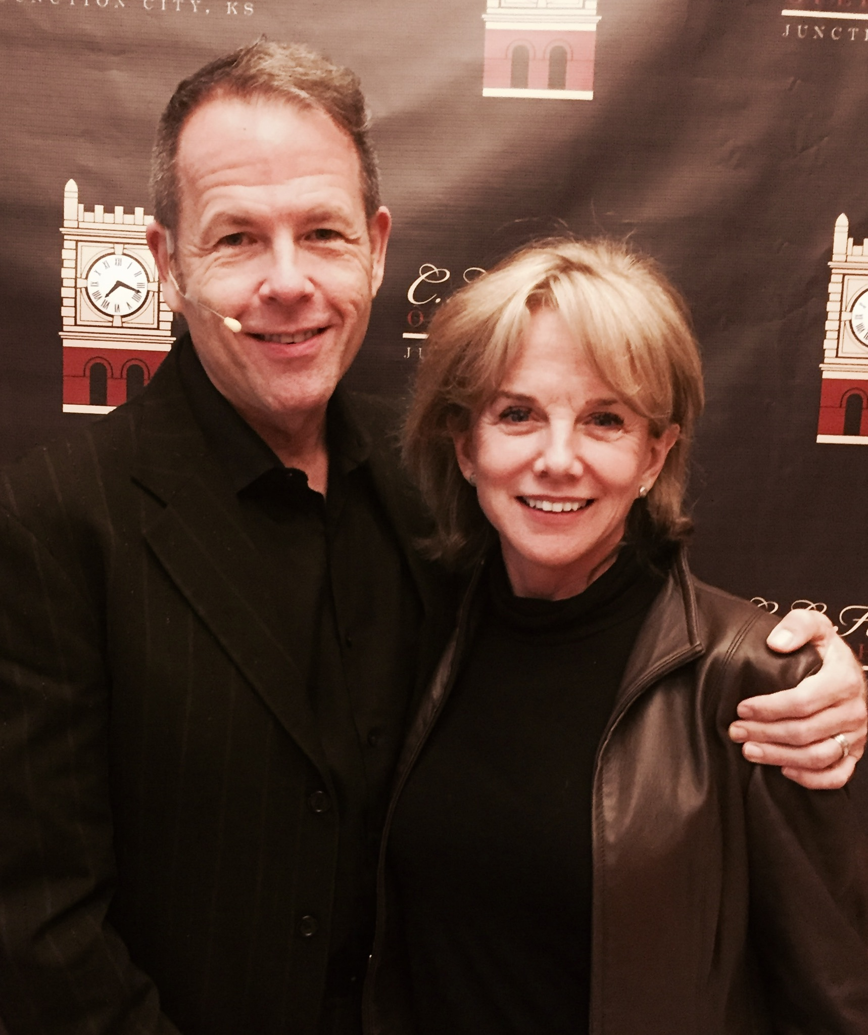 Emcee Greg Triggs with Linda Purl post-show