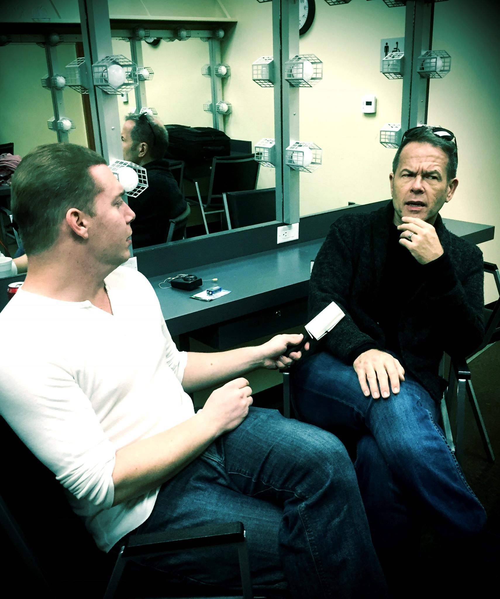 Matt Giroveanu and Greg Triggs in the Green Room, preshow