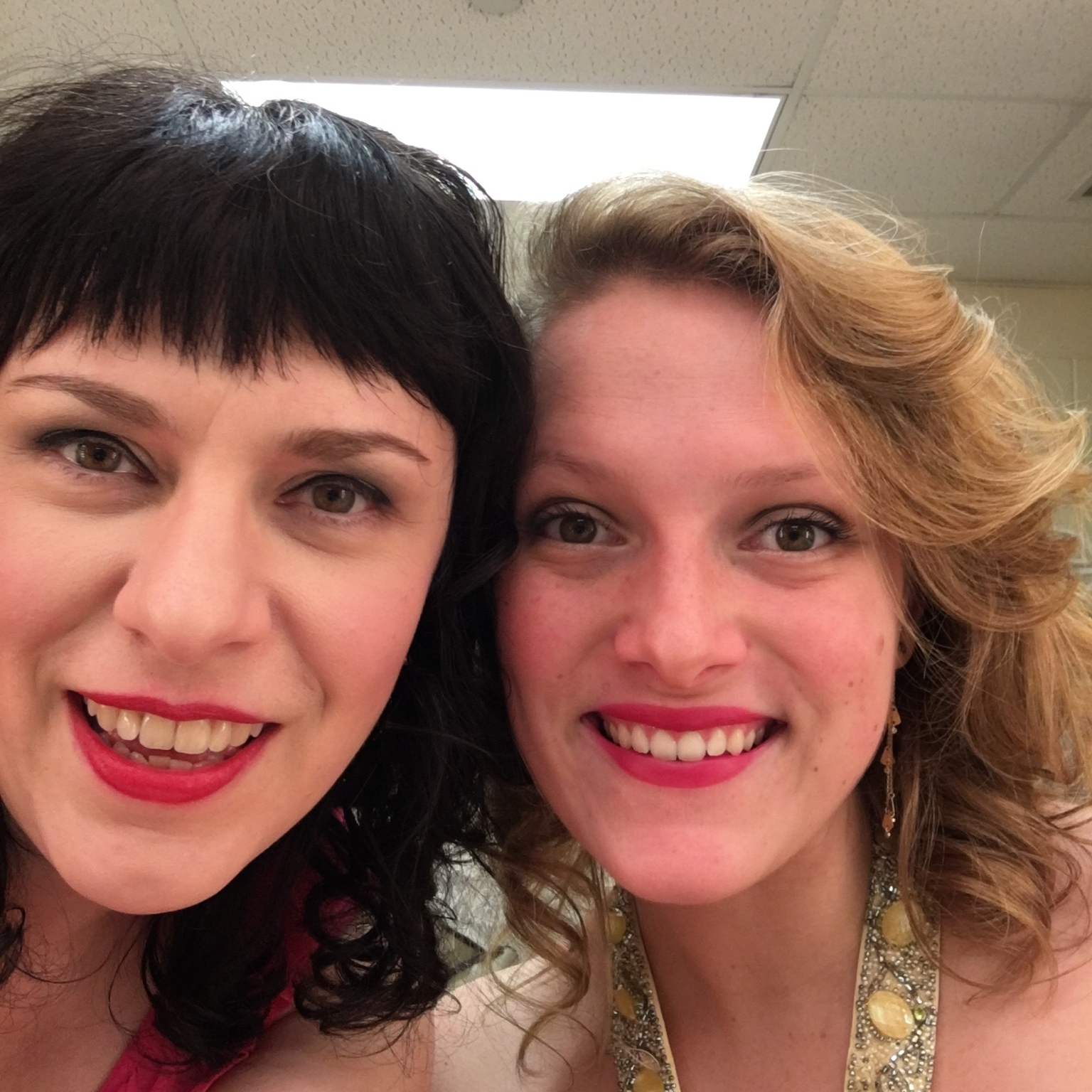 Deb Rabbai and Megan Reilly in the Dressing Room