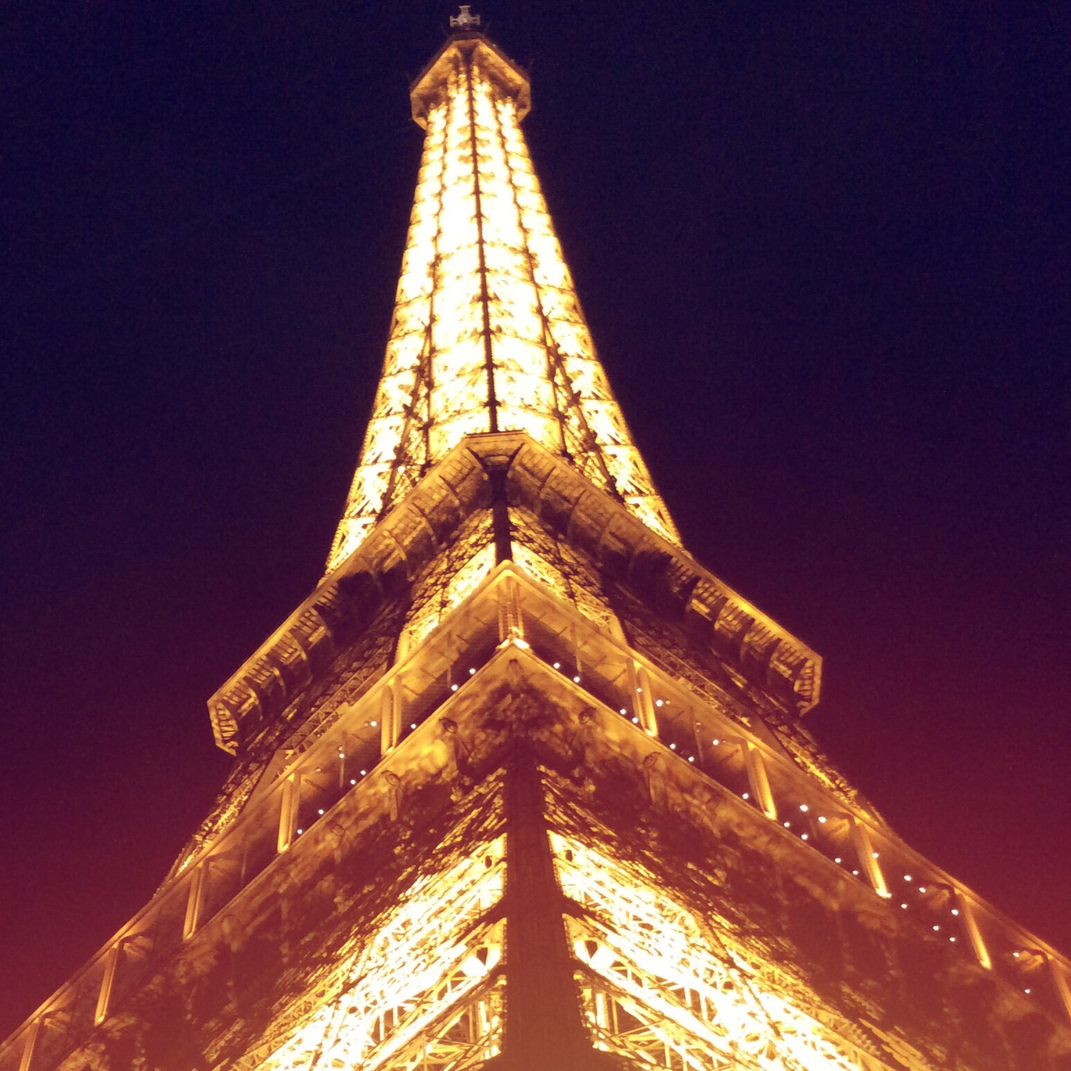 Picture of the Eiffel Tower was taken in Paris, France September 2015