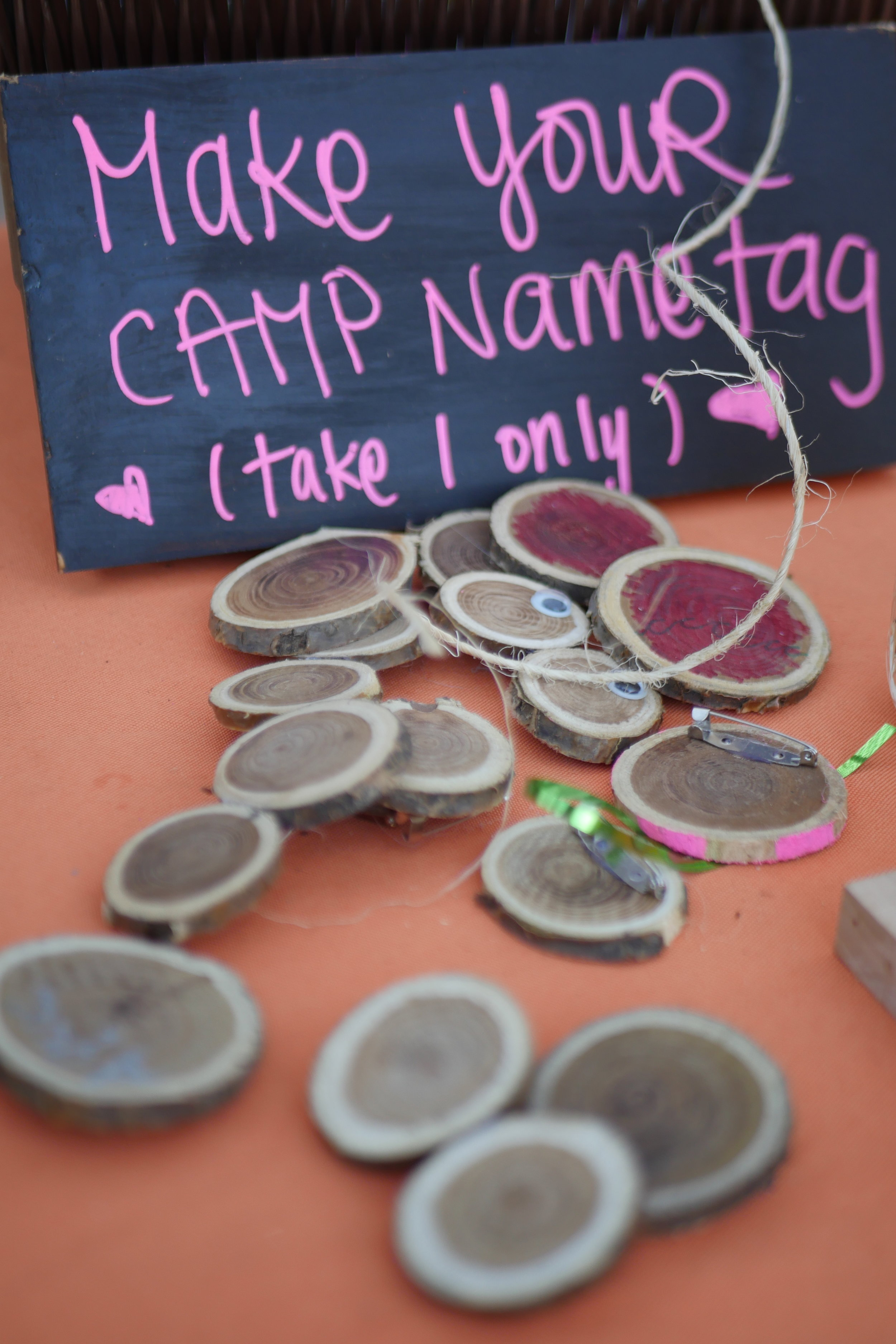 Make your own camp name tag through arts and crafts