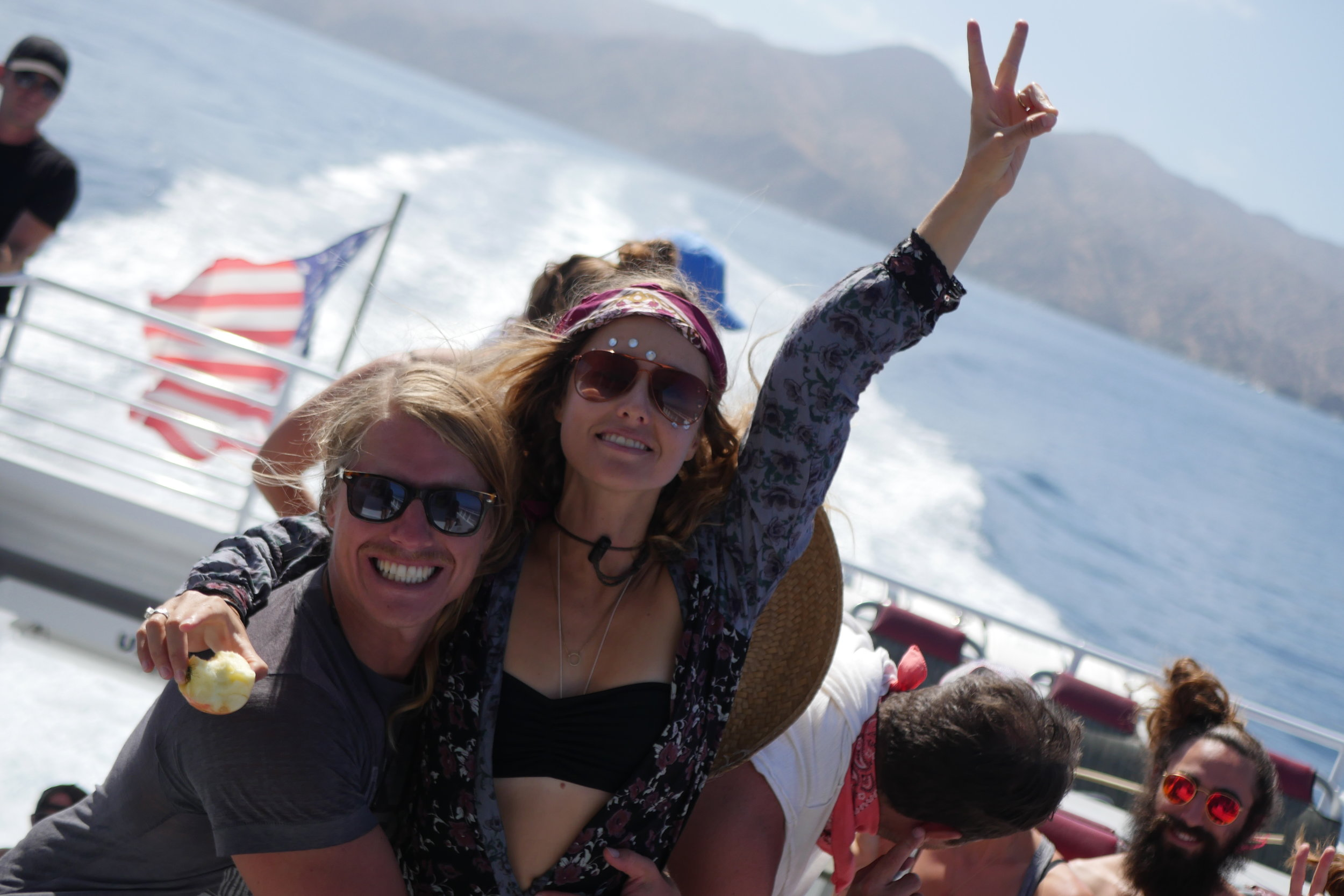 The boat ride over to Catalina Island takes about 1 hour