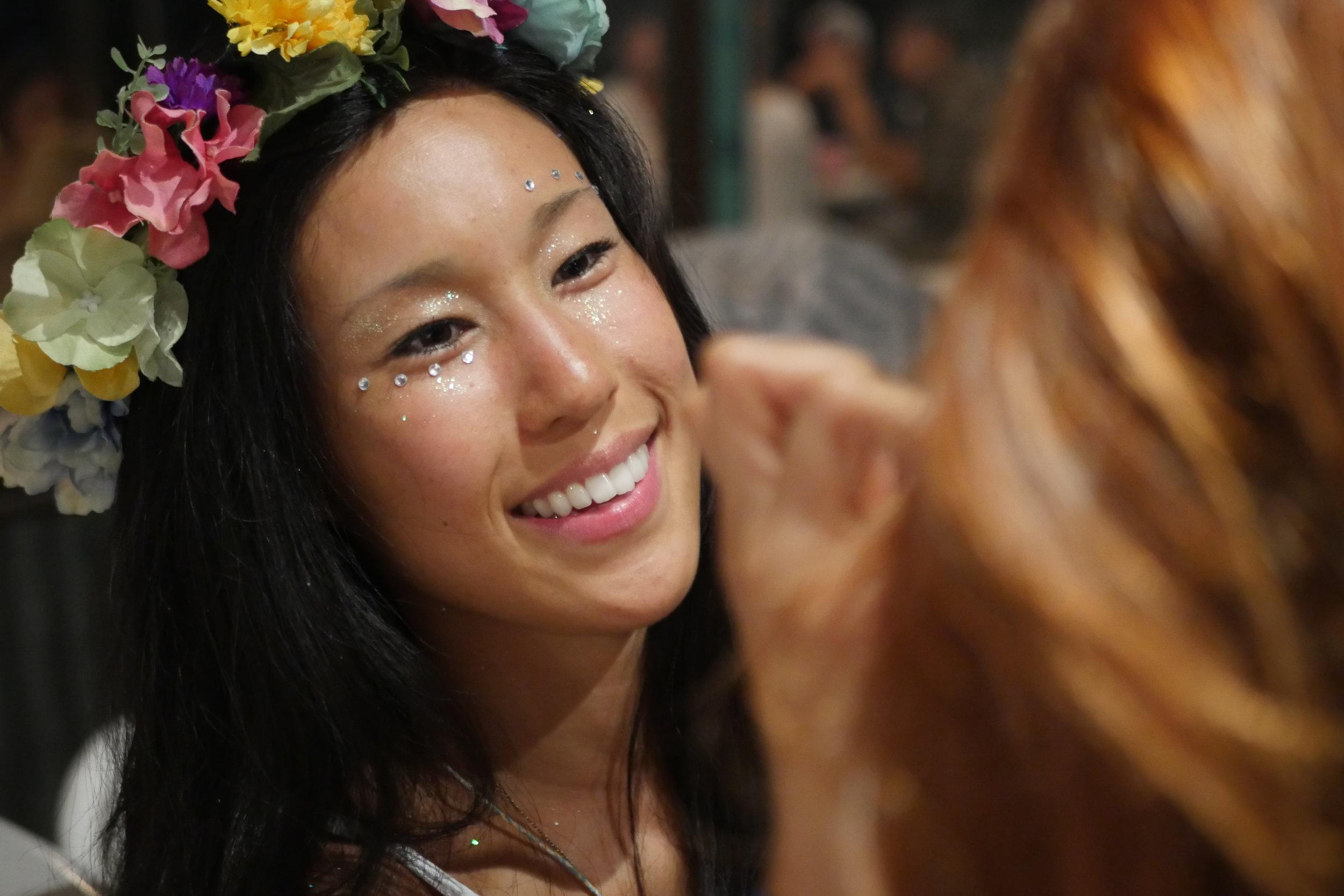 Co-Founder of Xanadu Heidi providing beautiful face art
