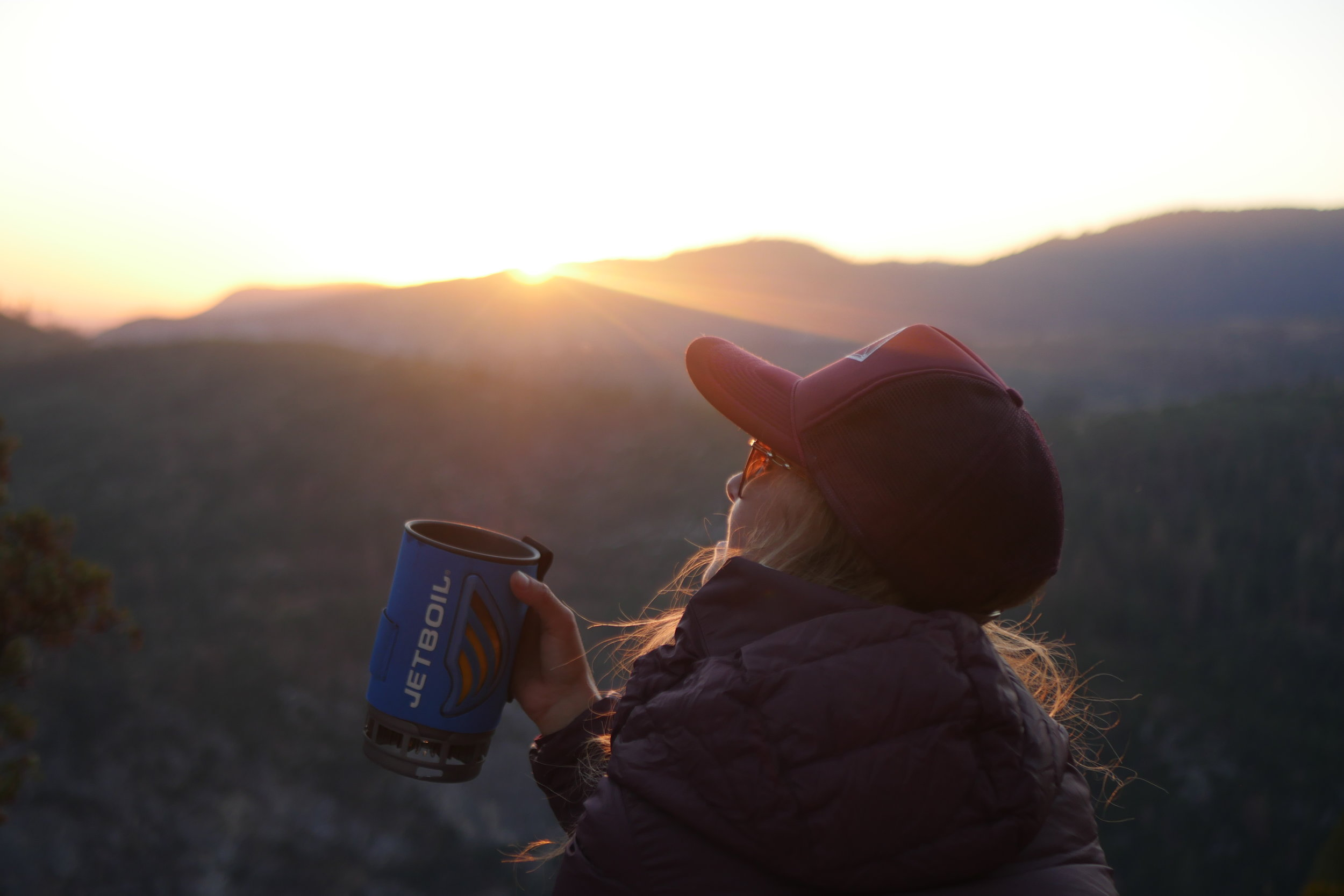 Watching the sunset on our way down from Glacier Point #jetboil