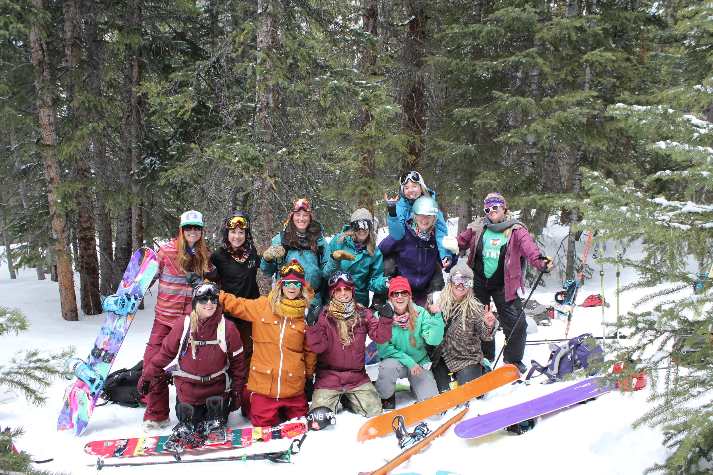 womens splitboard adventure retreat adult camp