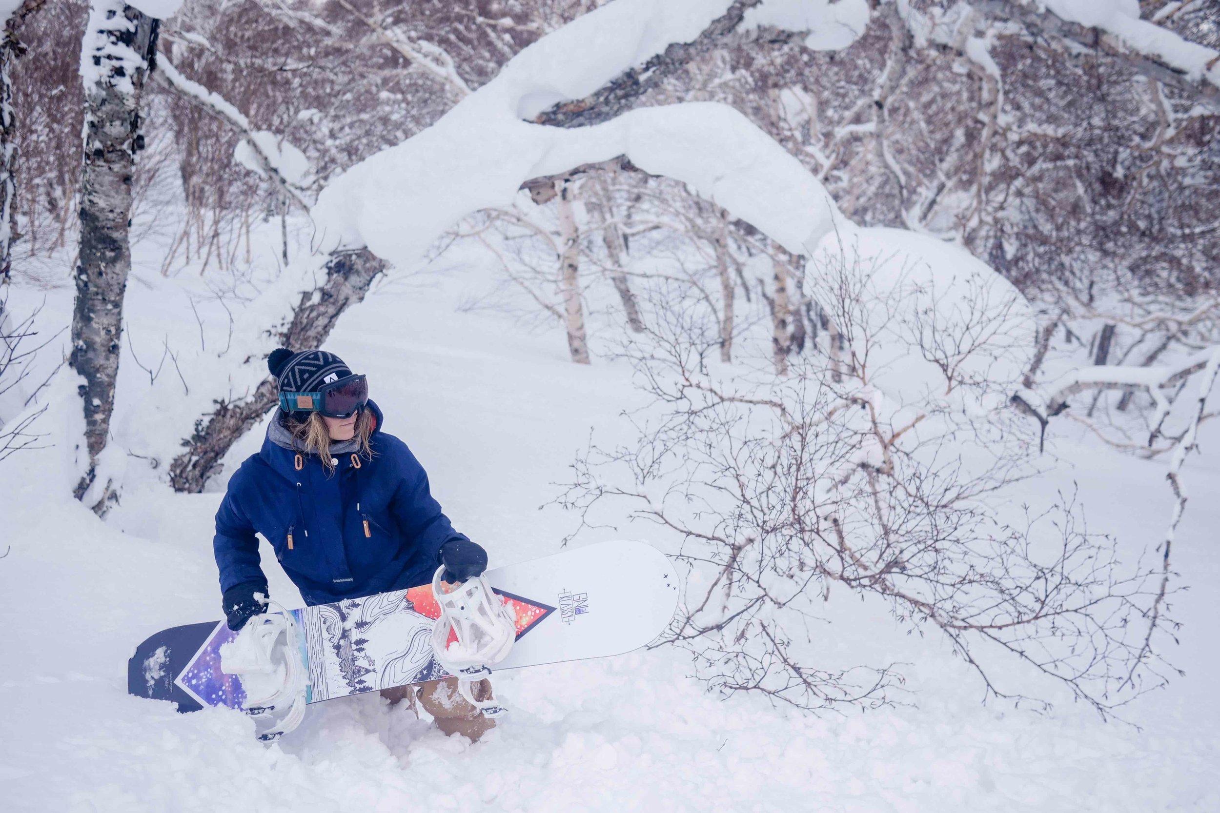 KJERSTI BUAAS SNOWBOARDING JAPOW FOREST.jpg