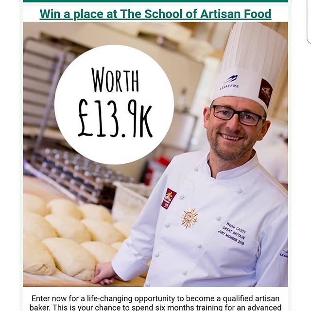 #Repost @wayne_caddy ・・・ Wow an amazing opportunity to win a 6 month place on the artisan diploma at The School of Artisan Food to celebrate 10 years. Thanks @olivemagazine  Please share this..... See below link or visit Olive magazine website for more details  https://www.olivemagazine.com/competitions/win-a-place-at-the-school-of-artisan-food/?utm_source=Adestra&utm_medium=Email&utm_content=&utm_campaign=Olive Magazine Newsletter 17%2F10%2F2019 11%3A06%3A55_217856_olive_Newsletters  #schoolofartisanfood #olivemagazine #wow #competition