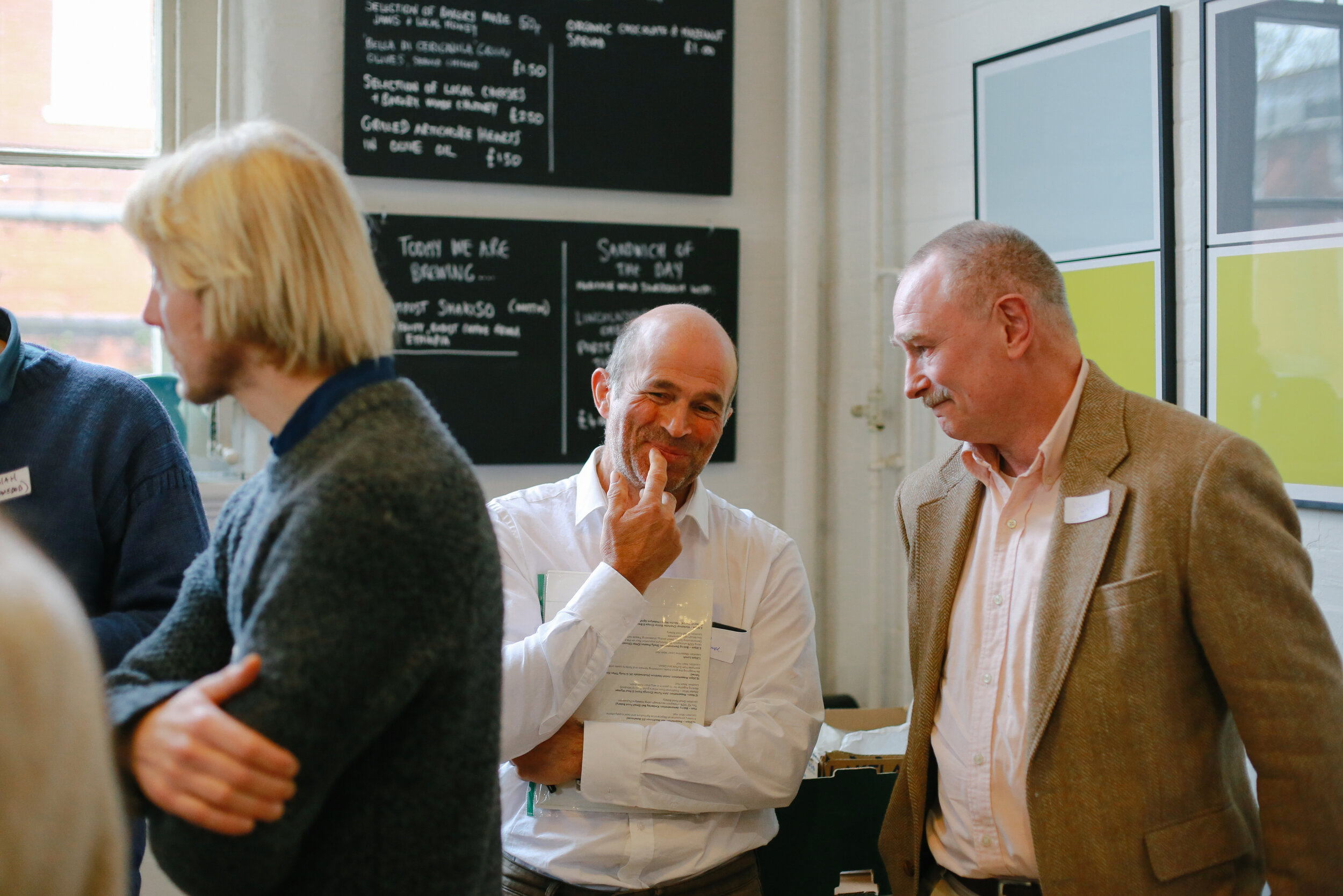 John Turner (Grange Farm: left) is growing YQ for 2018 harvest; to be milled by Paul Wyman (Tuxford Windmill, right). They discussed their approach to shortening the supply chain at the UK Grain Lab conference. Photo: David Severn