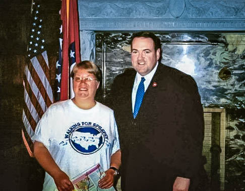 Me & Gov. Huckabee in Little Rock