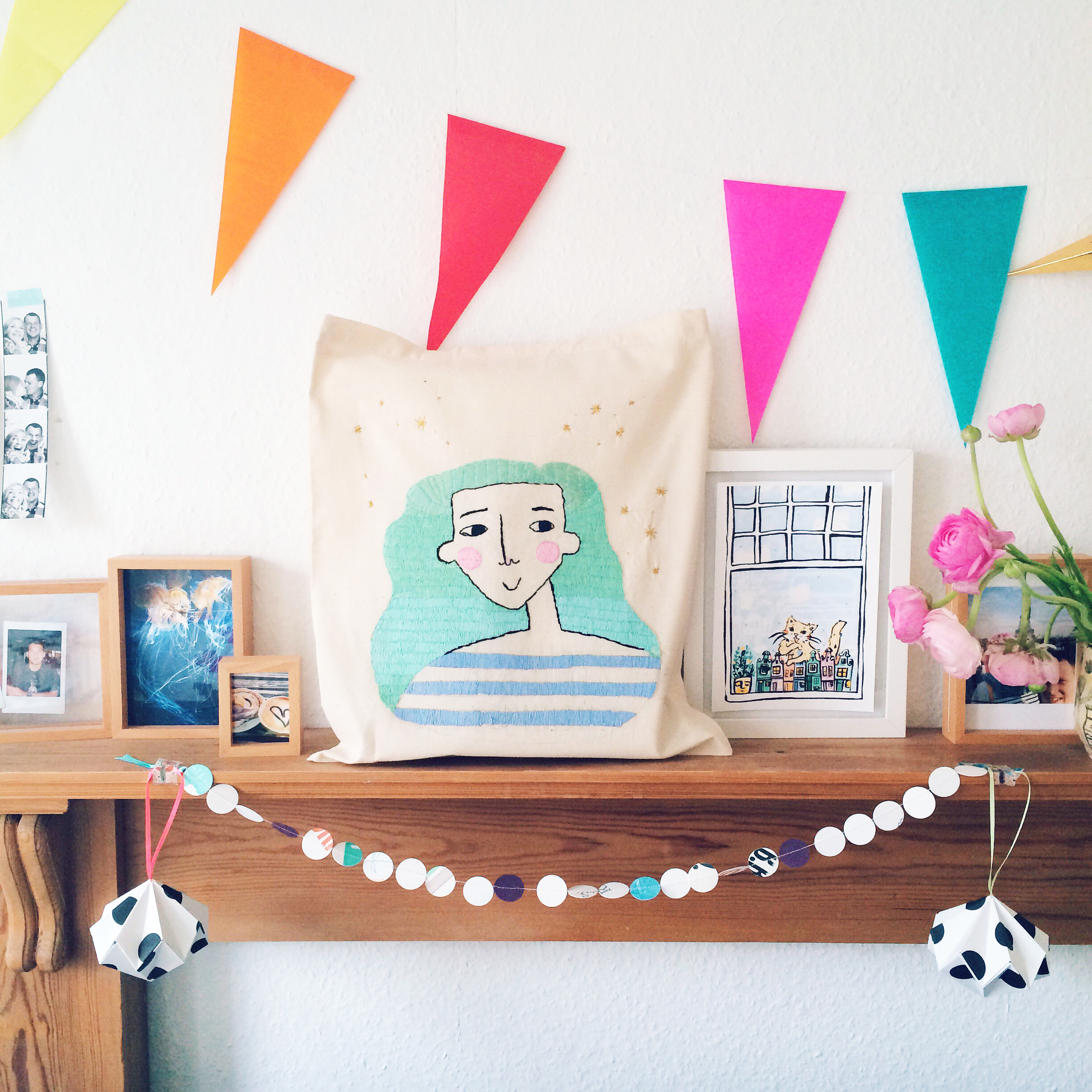 Mint Hair Embroidery DIY by andsmile