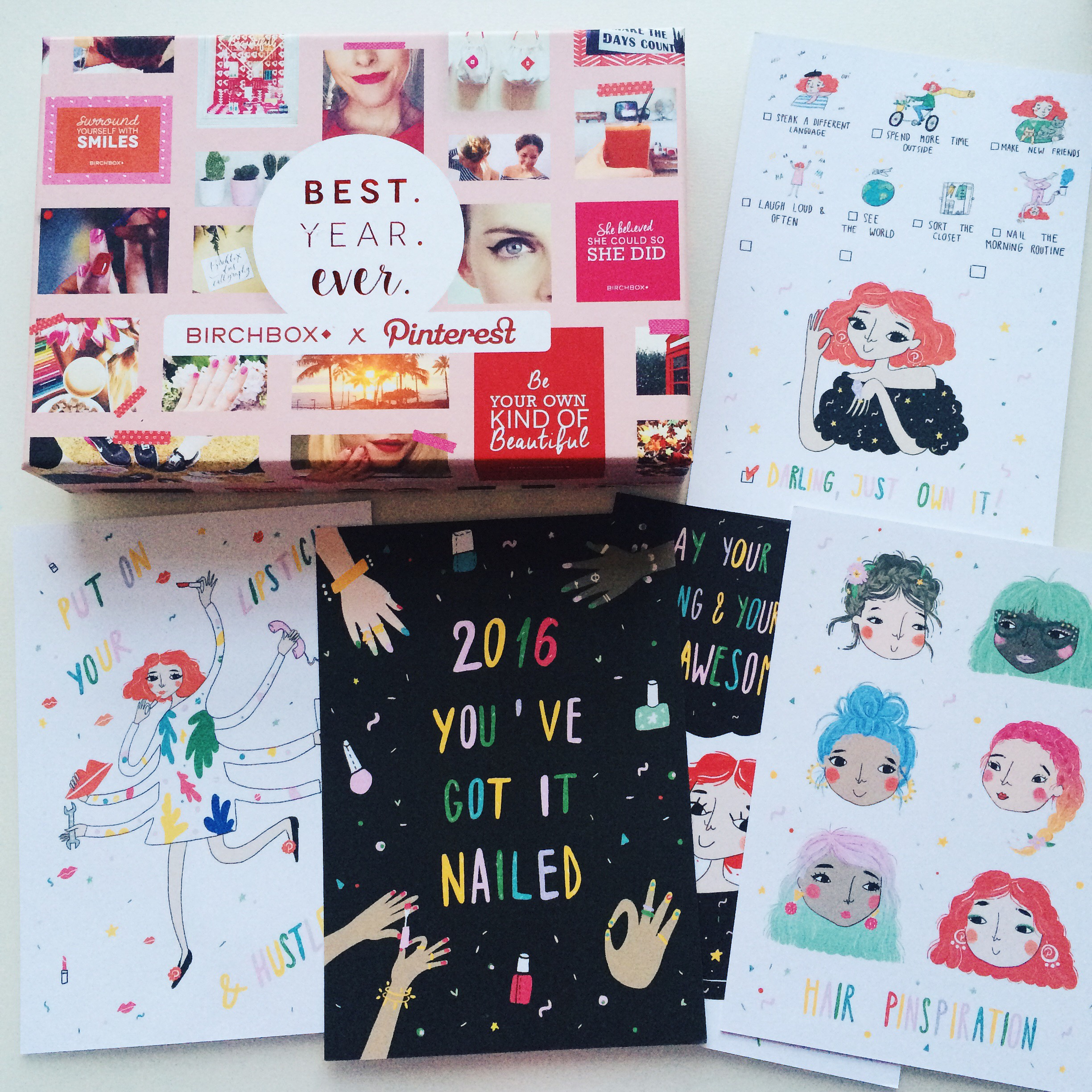 andsmile for birchbox x pinterest
