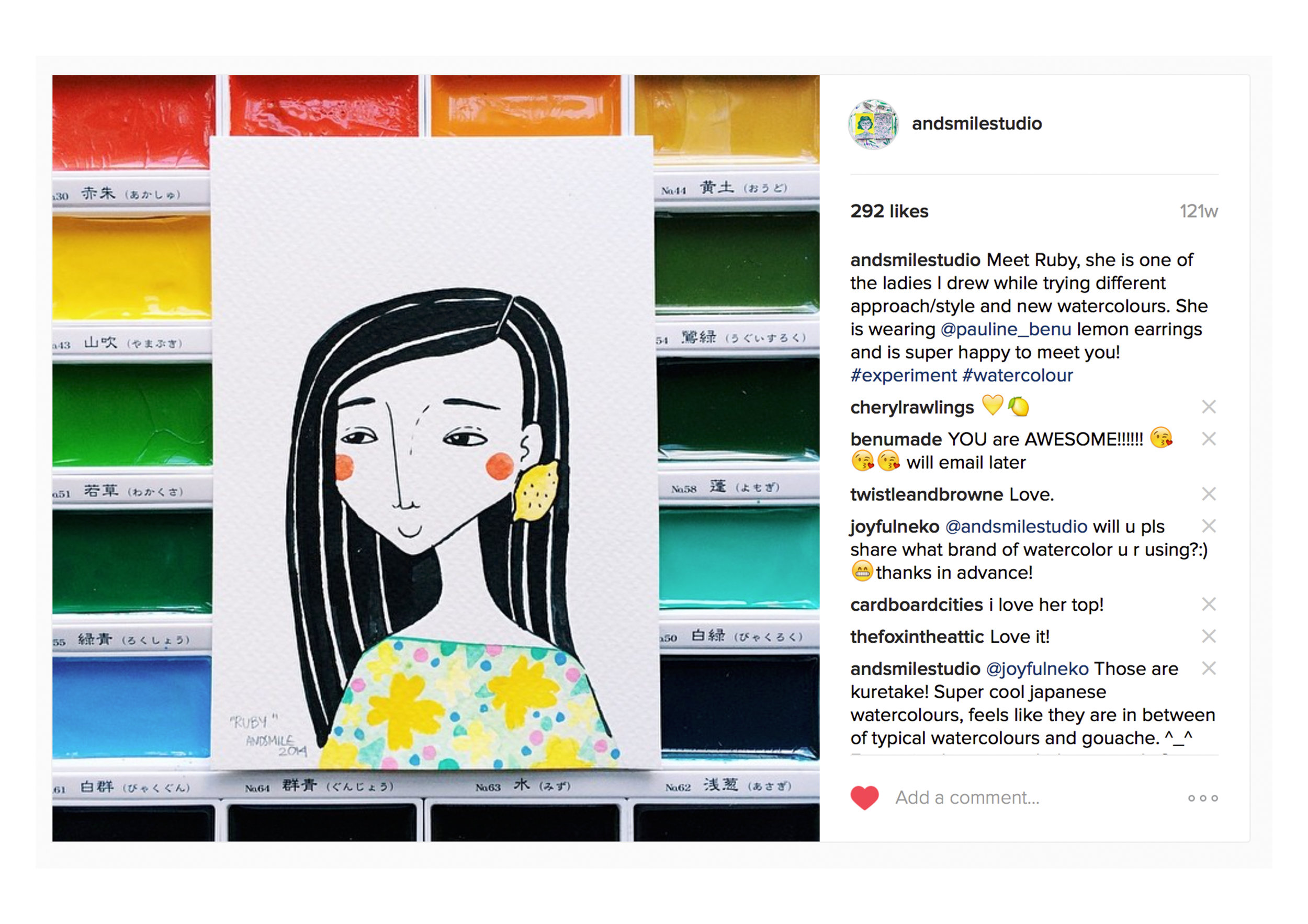 Sometimes I would use instagram as a tool to test new products and try to change direction of my business. Here is the first version of the portrait I started to offer :)