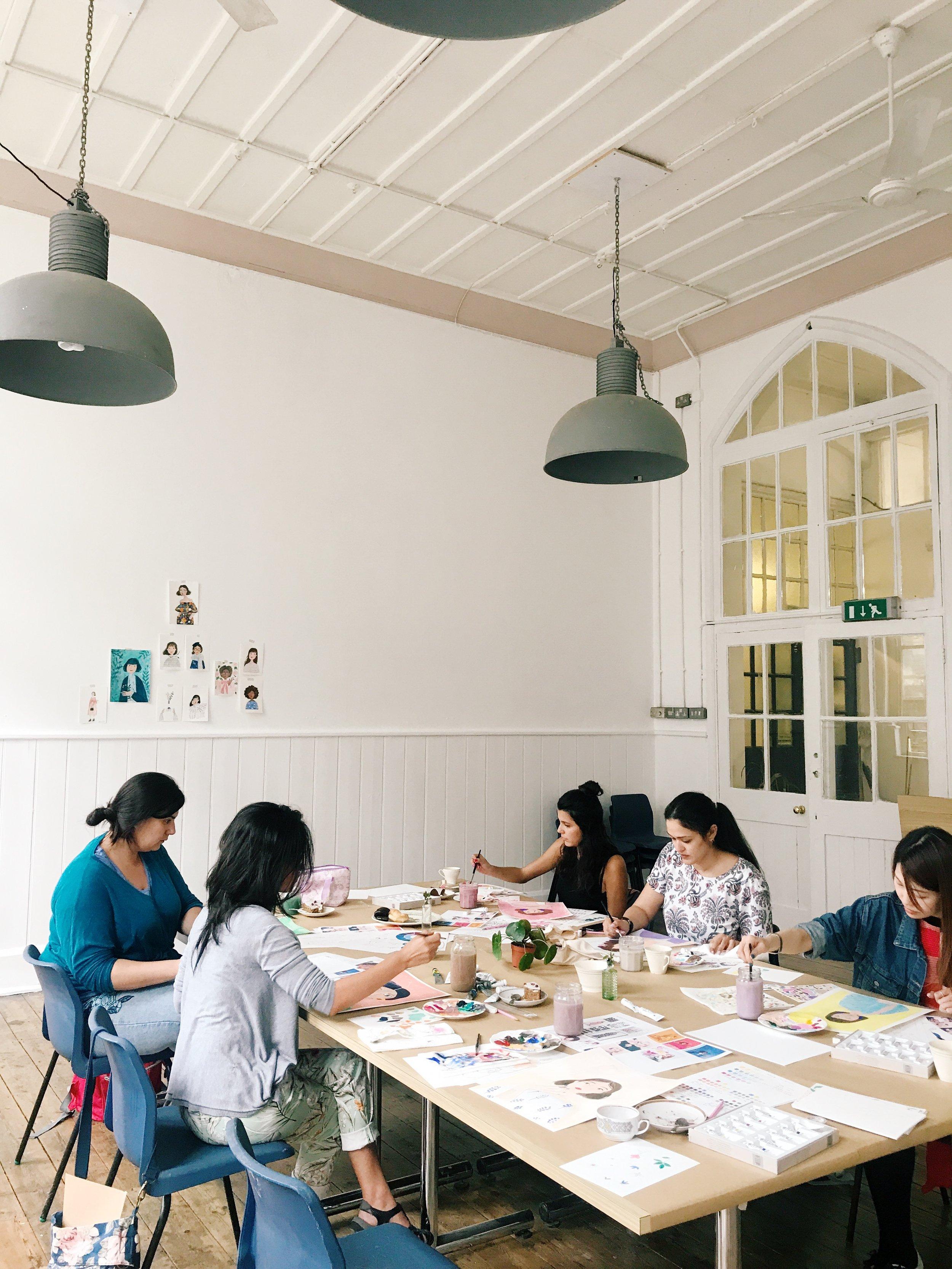 andsmilestudio portrait painting workshop
