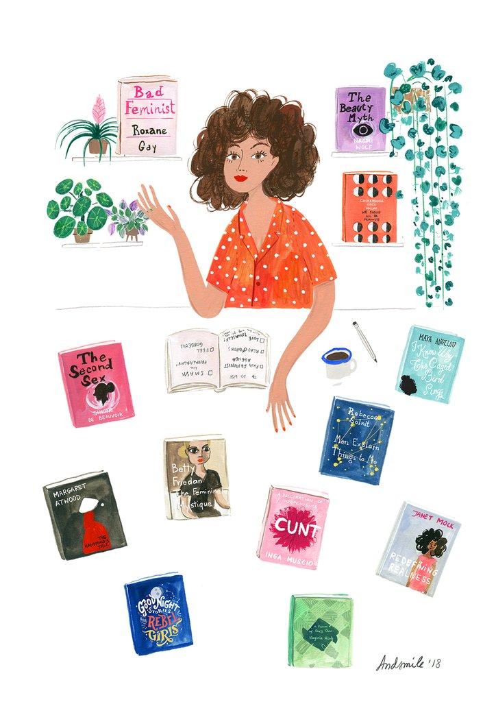 viktorija semjonova feminist reading list andsmilestudio illustration books to read