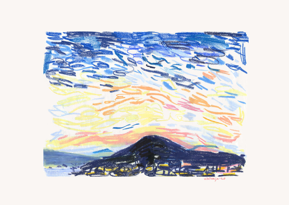 Sunset Pencil Sketch