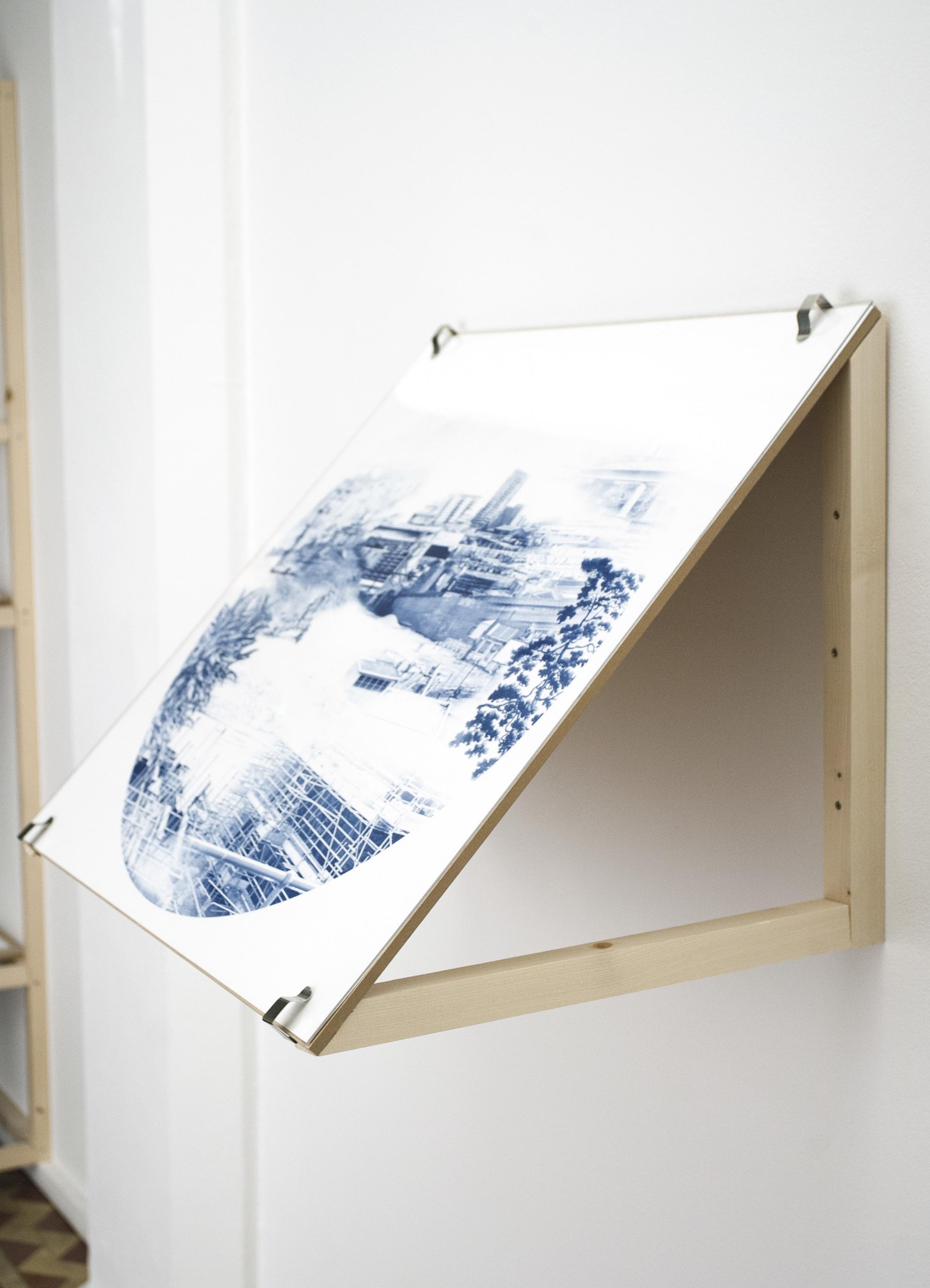 Thomas Frye Court |Cyanotype print