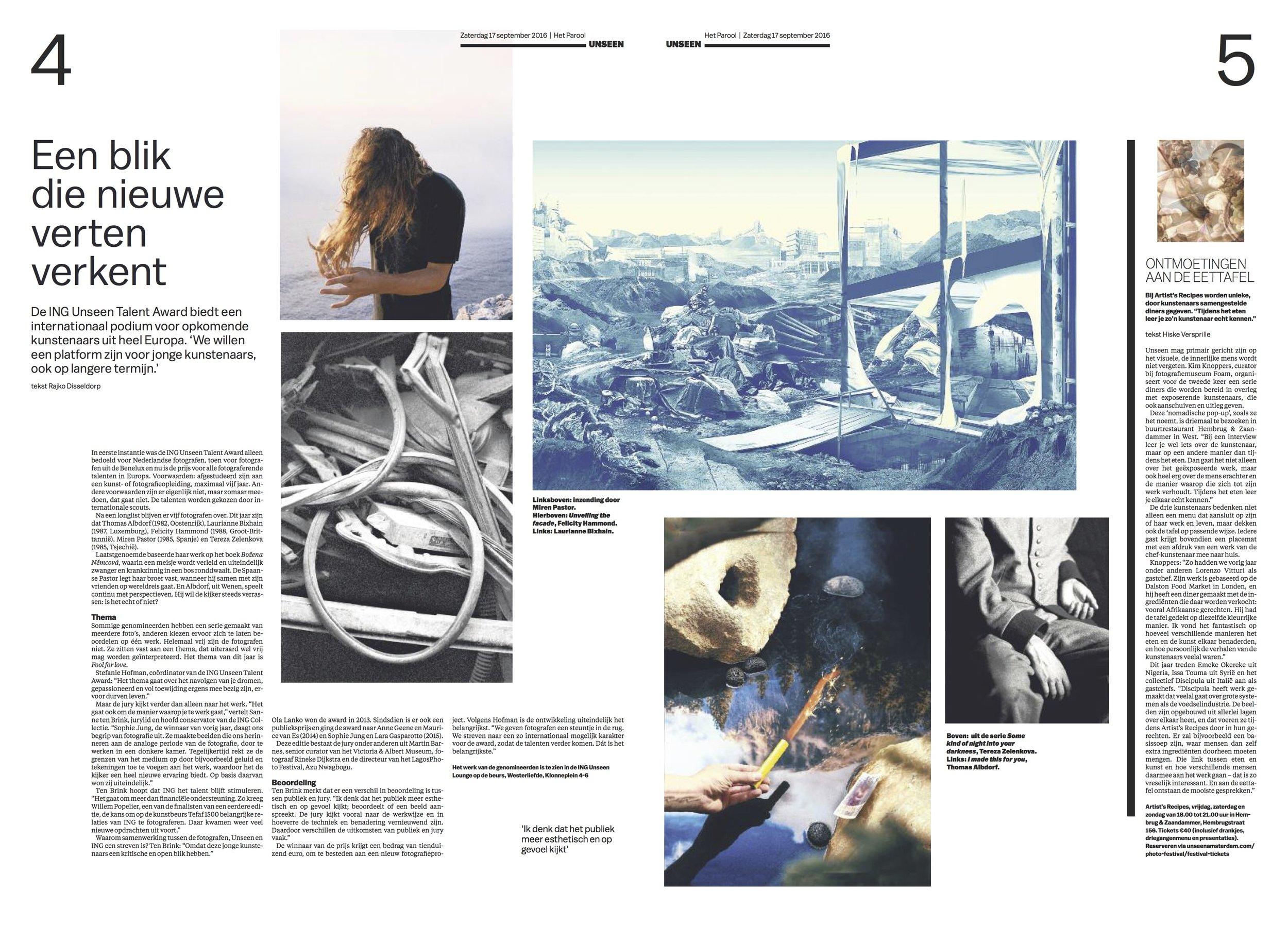 Newspaper feature: Het Parool, Netherlands