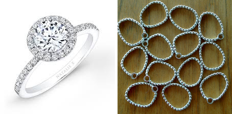 Halo diamond ring that inspired the new halo component design