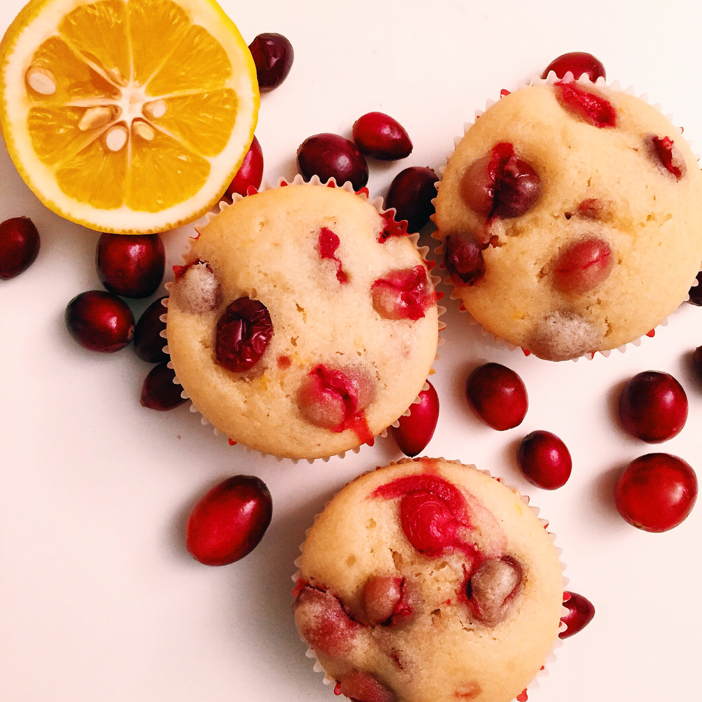 Cranberry muffins. Highly addictive!
