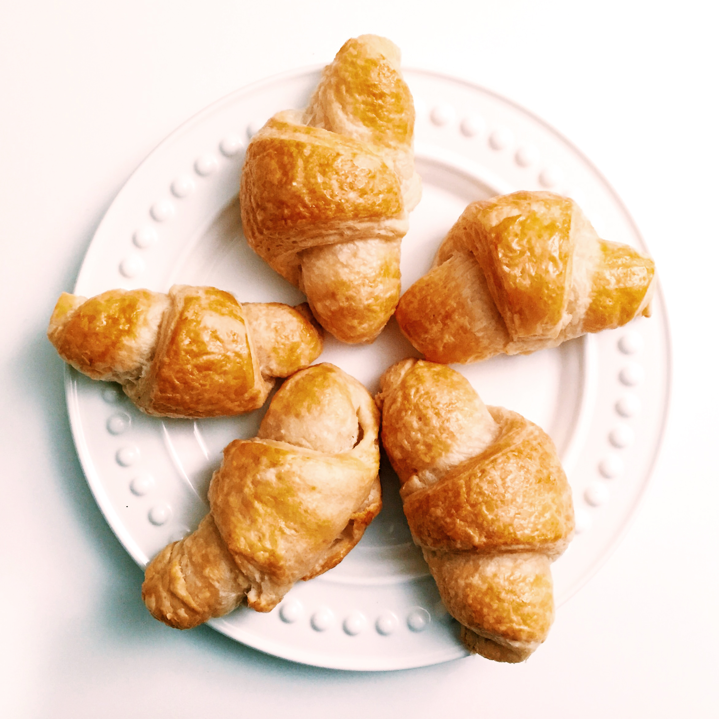 Flakey, buttery, delicious homemade croissants! :)