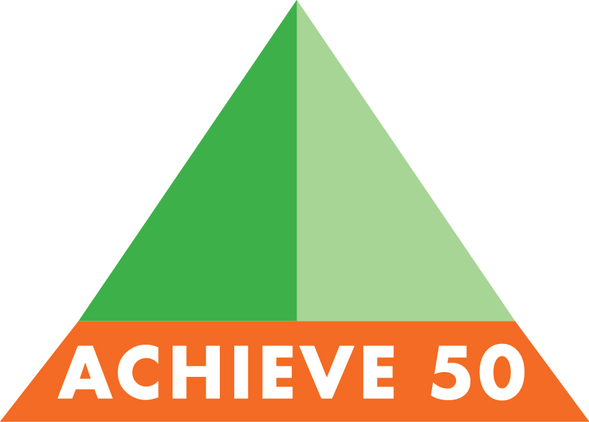 Achieve 50 Logo Design  An equal-opportunity school program