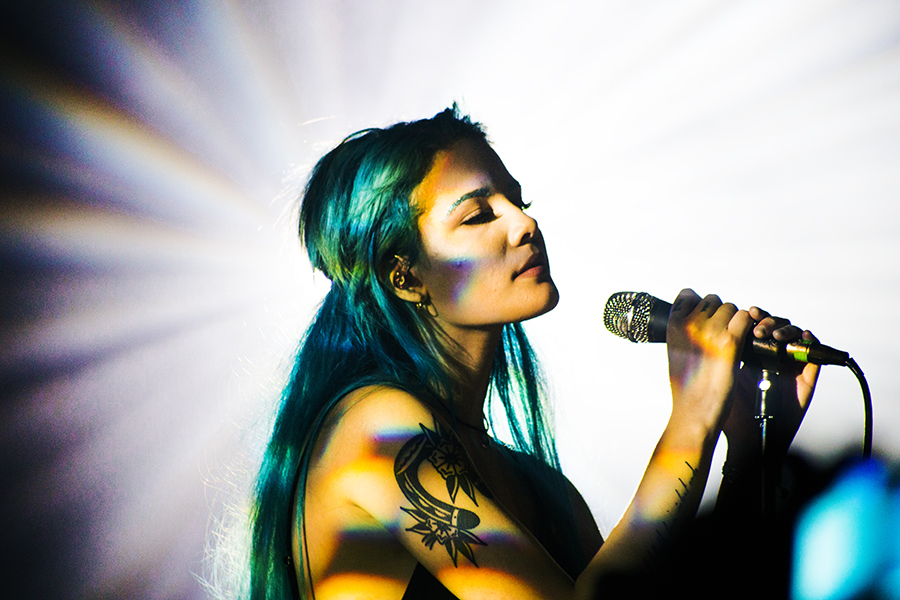 #6- This is  Halsey . She is very cool and puts on a DREAMY live show. This was shot for  Touch Music Press and yielded some of my favorite live music photos I had ever taken.