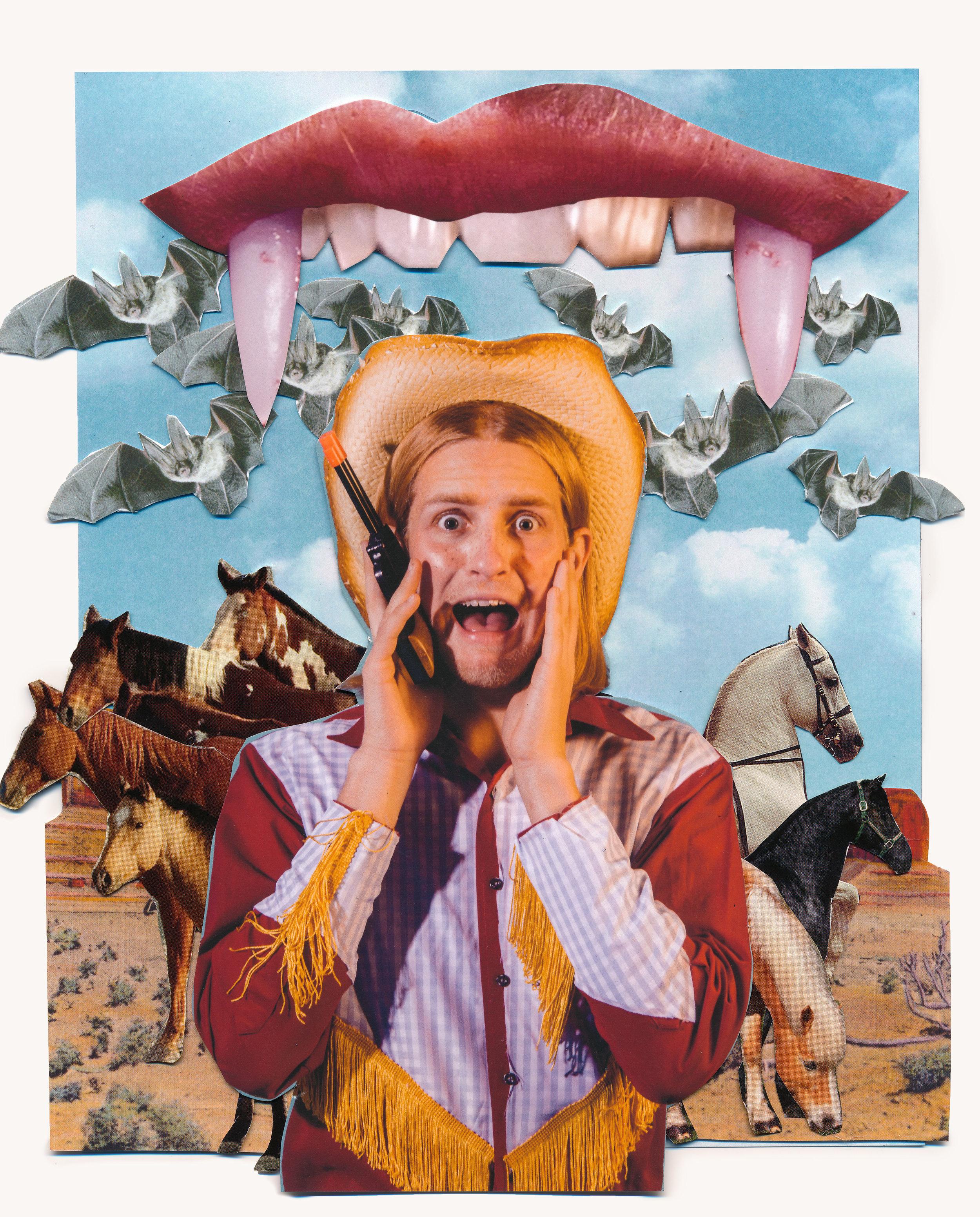 Night Rider (Vampire Cowboy), November 2017  Model:  Graham Bohling   Makeup:  Kenedee Hodges