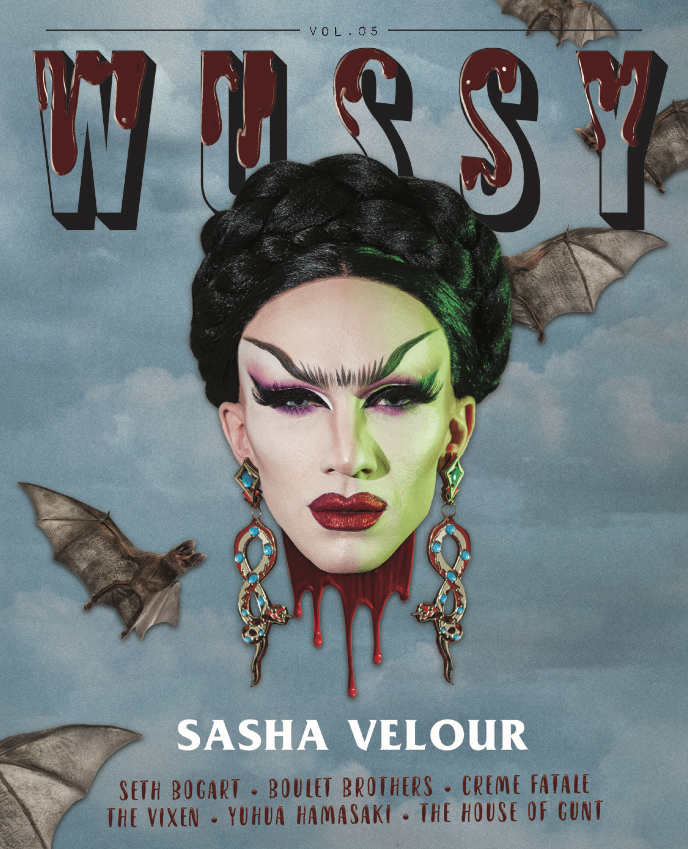 Sasha Velour for the cover of  Wussy Mag Volume 5 , 2018.  Assisted by Nicolas Bloise and AJ Jordan.