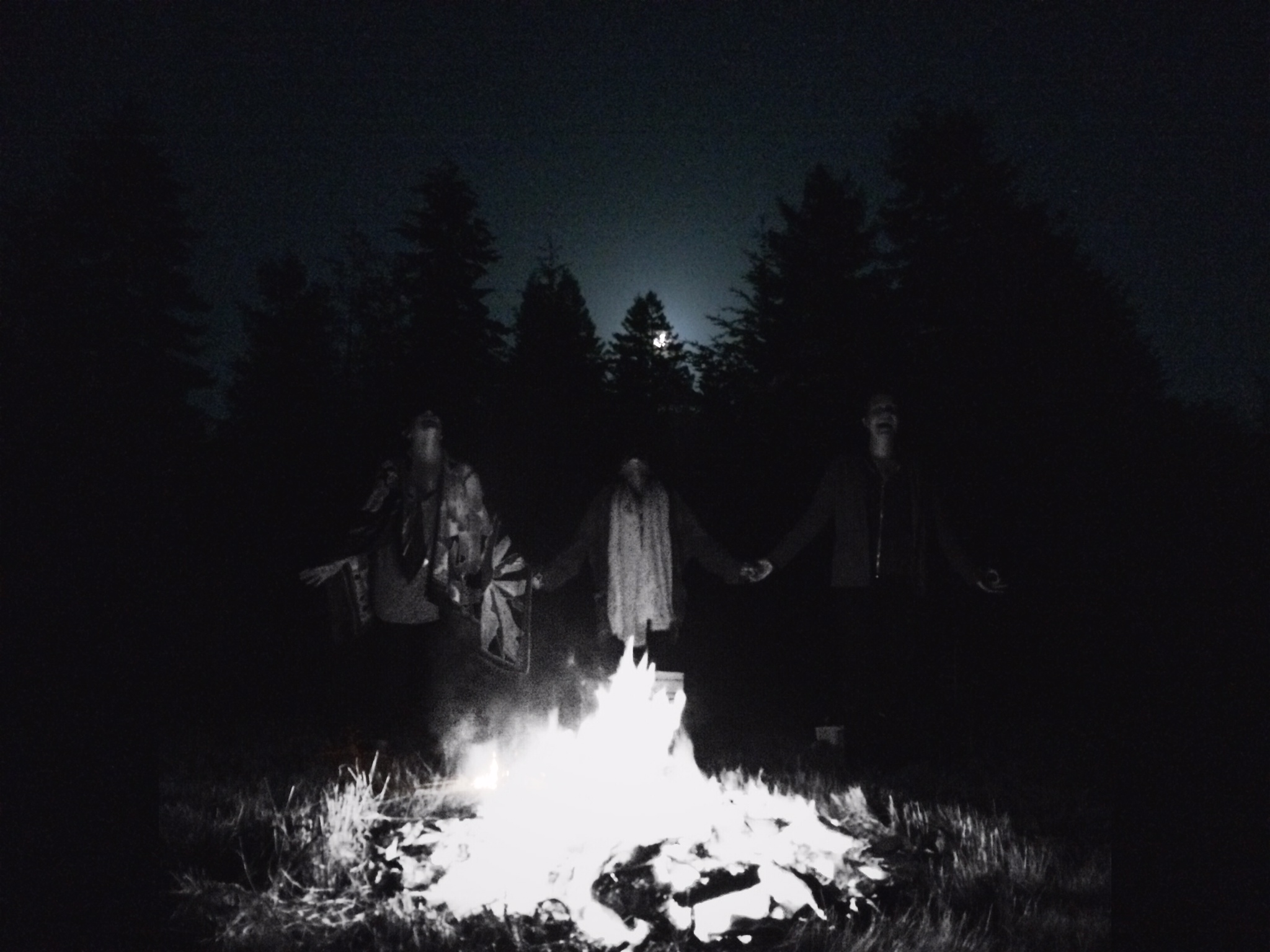 A Summer Solstice Full Moon Fire Ritual, 2014.    Photo taken by River Walker, Edit by Mia Pirillo