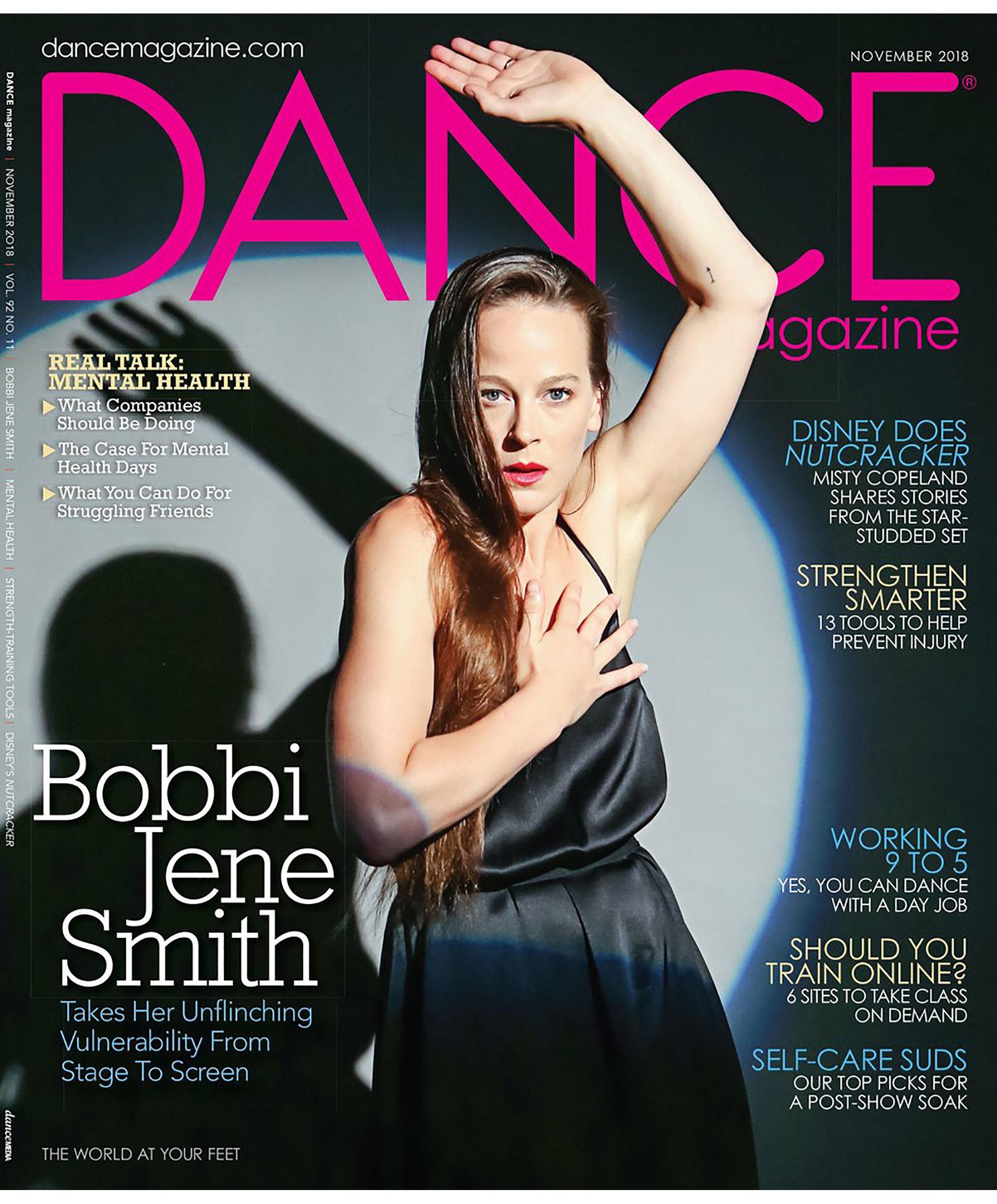Bobbi Jene Smith on the cover of November's Dance Magazine.