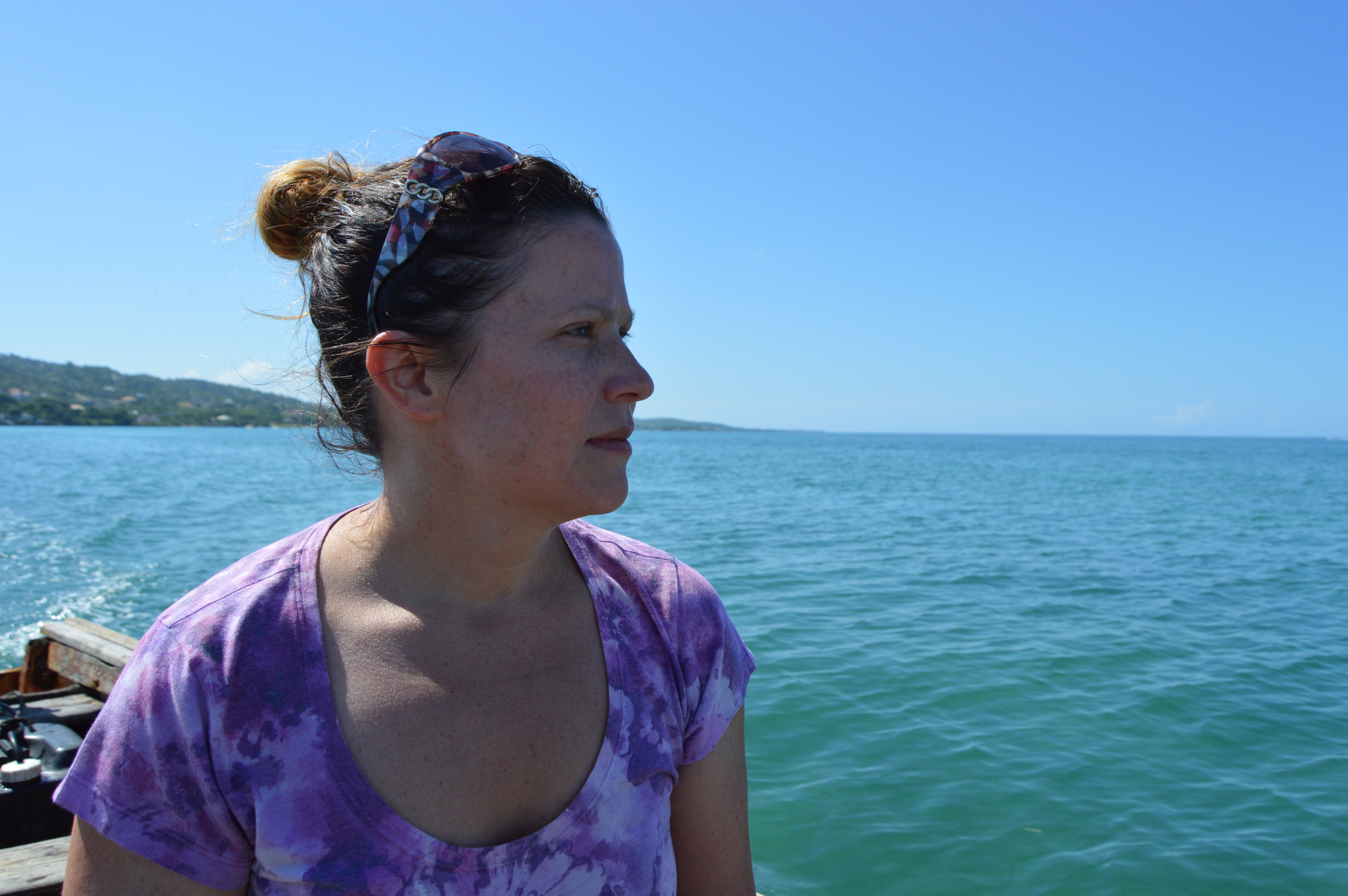 The author on a boat ride.