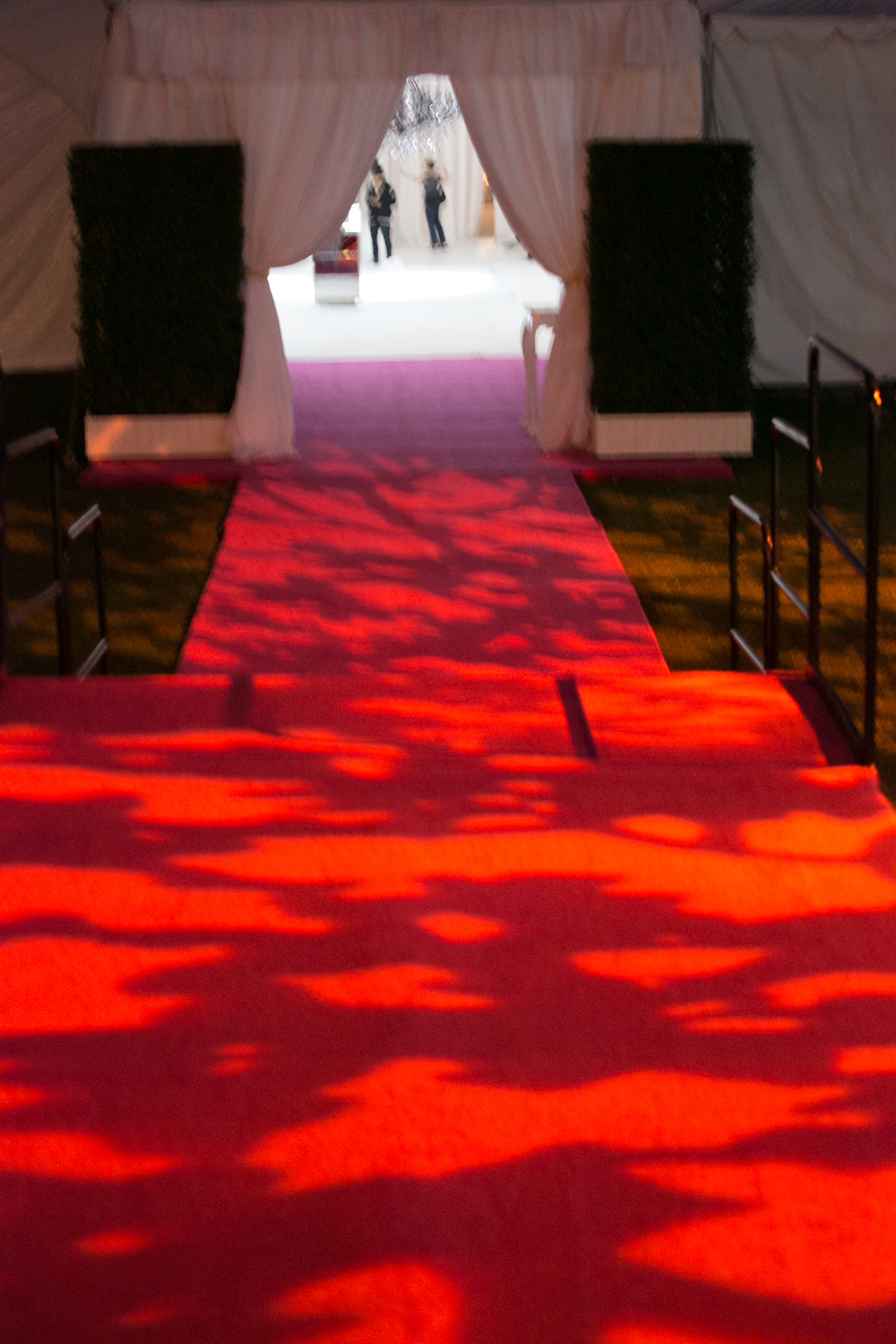 Entrance to Event Lighted with Gobo Pattern