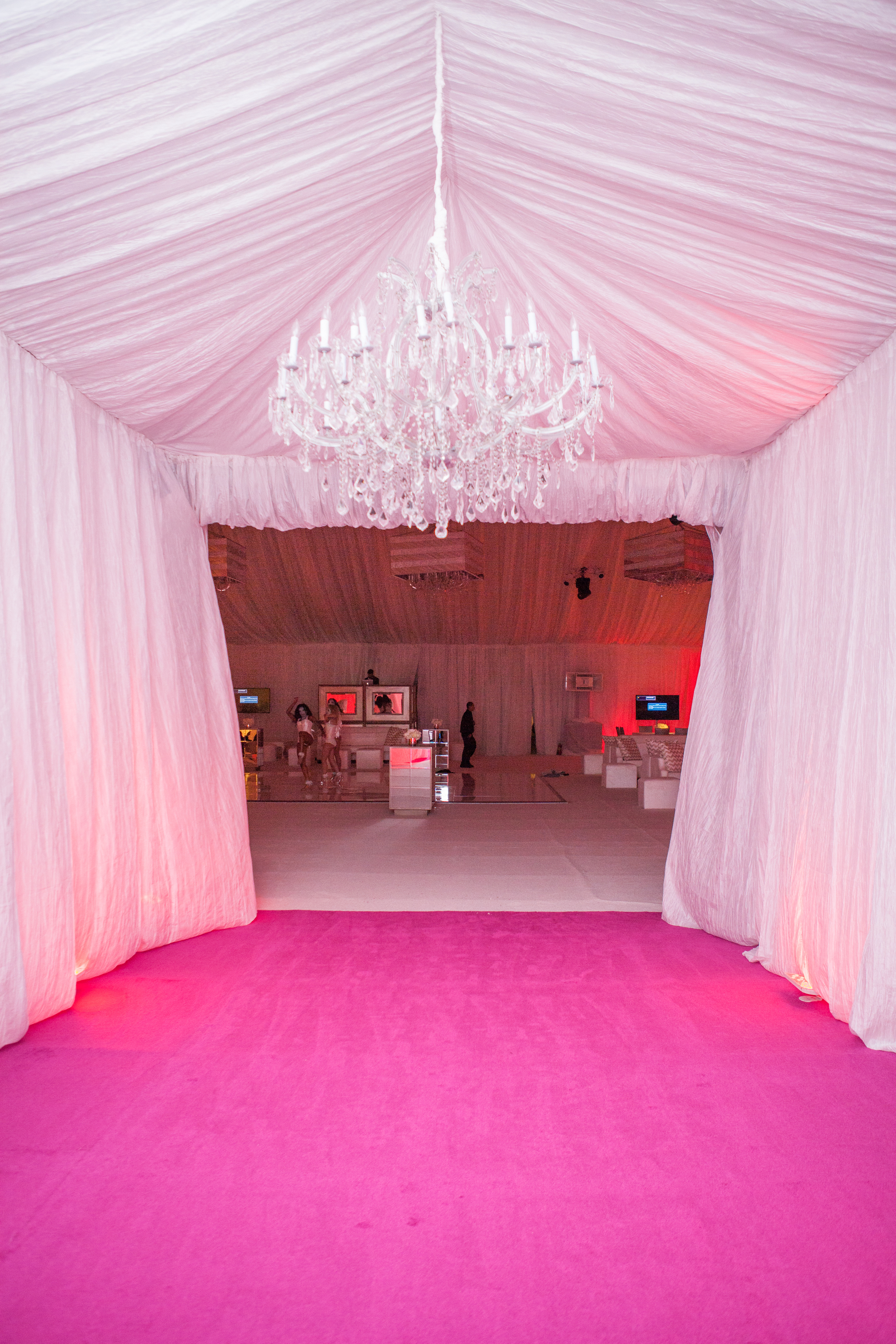 Entrance Tent with Chandelier