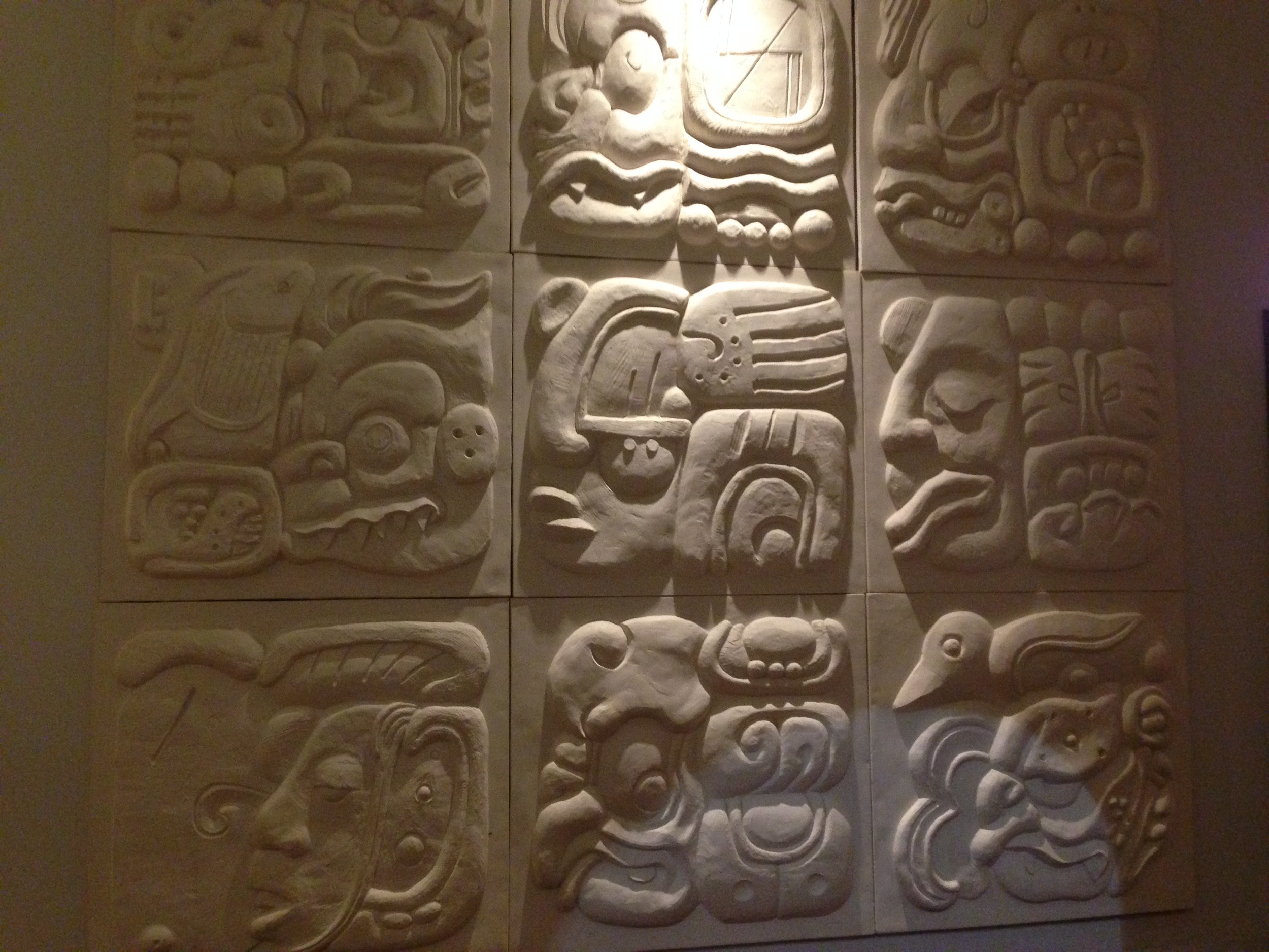 Maya (?) glyphs at the Chipotle on 15th and Walnut, in Philadelphia.