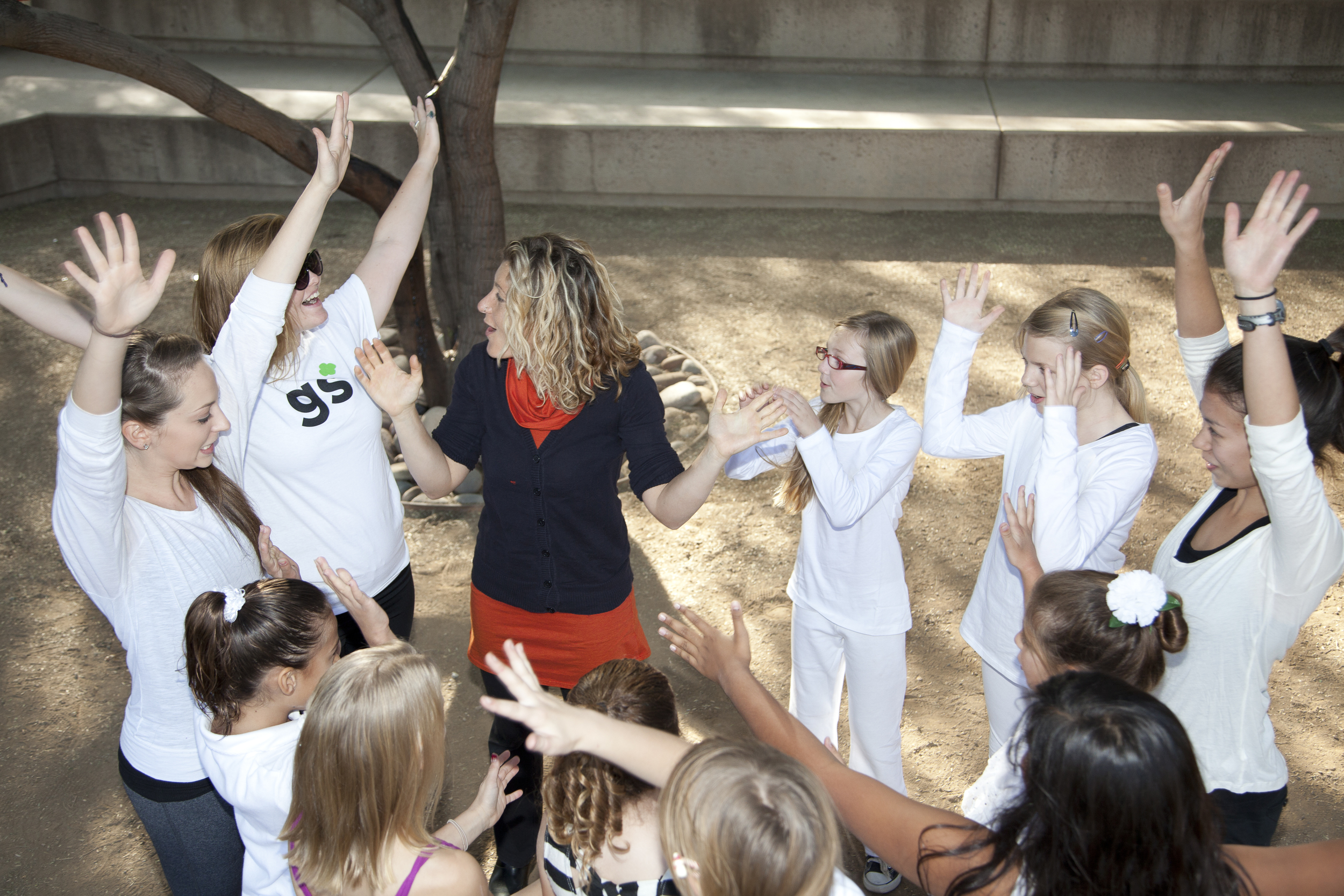 EJ with college dance majors and girl scouts as part of  At Home in the Desert: Youth Engagement and Place  (Photo: Sean Deckert)