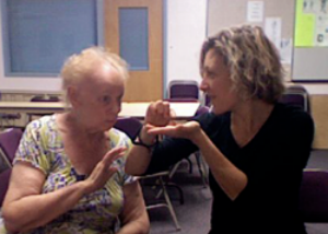 EJ with Norma at East Mesa Adult Resource Center