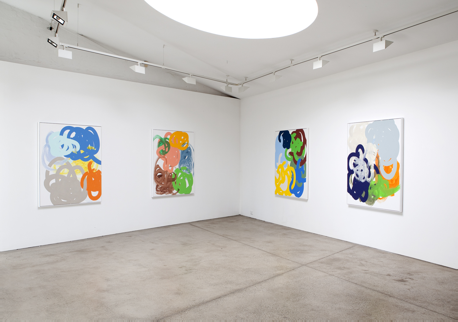 'Tangle Paintings'  2011  Sarah Cottier Gallery, Sydney Installation View