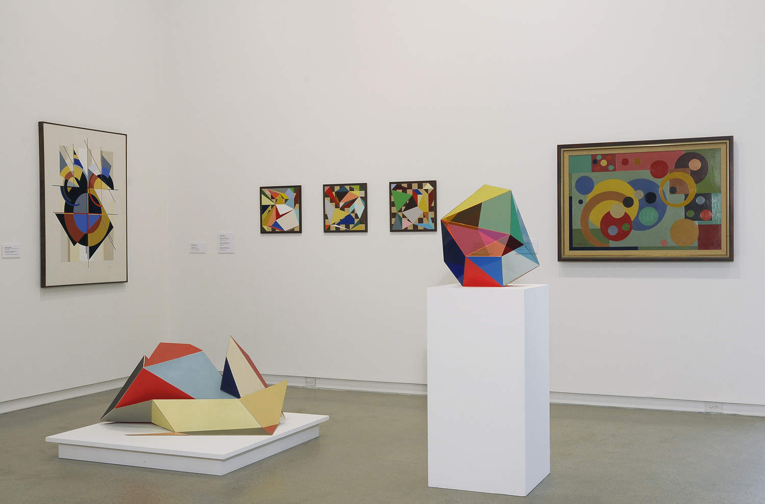 'Cubism and Australian Art'  2009  Heide Museum of Modern Art, Melbourne Installation view Sculptures and three paintings at centre