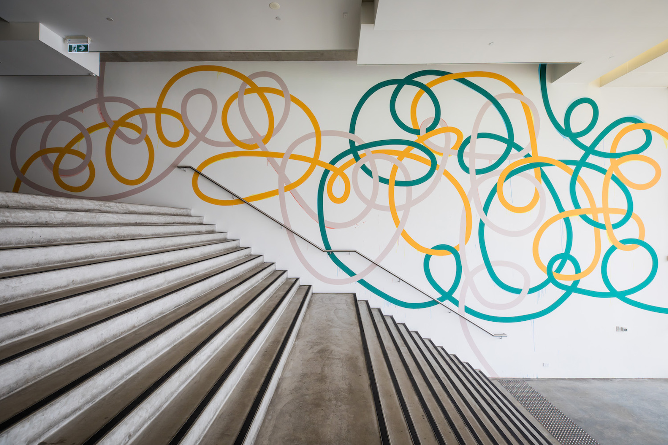 Triple Tangle  2018  Museum of Contemporary Art Foyer Wall Commission Synthetic polymer paint on wall 15 x 7 m