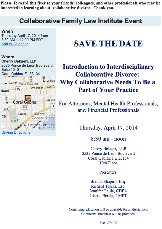 Save the Date! Apr 17 - Why Collaborative Needs To Be a  Part of Your Practice