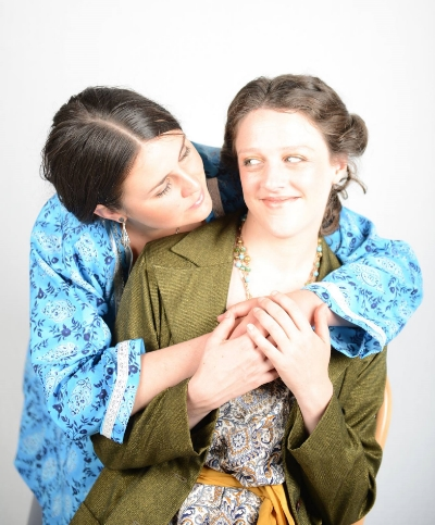 Claire Nicholls as Virginia Woolf and myself as Vanessa Bell.