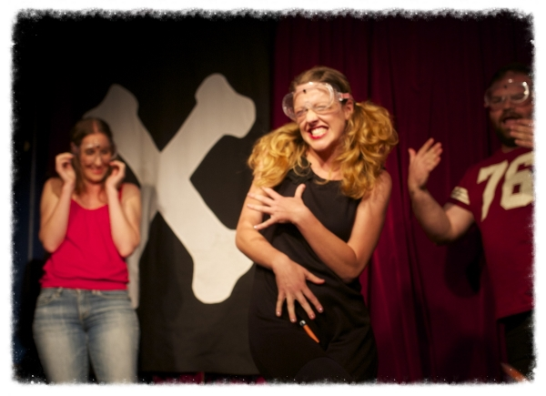Getting attacked whilst singing in Hoo Haa Danger Hour at The Butterfly Club! (Image: Open Cage Photography)