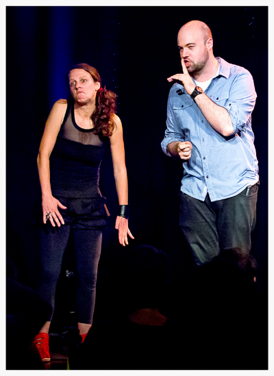 Me on stage with comedian Xavier Micheledes. (Image: RW Young)