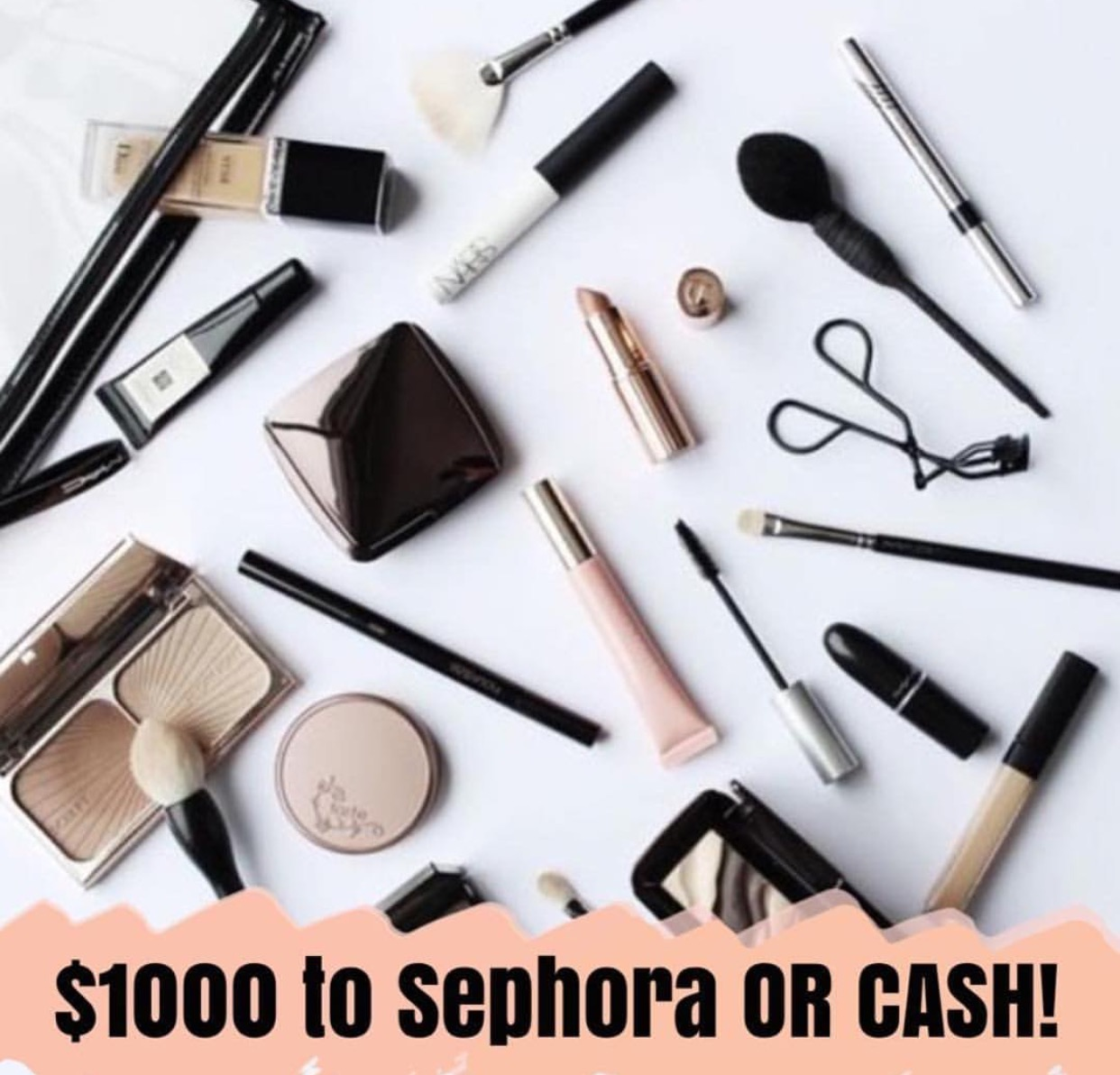 $1000 Sephora OR cash giveaway ends tonight! Click on the photo and follow instructions to win!
