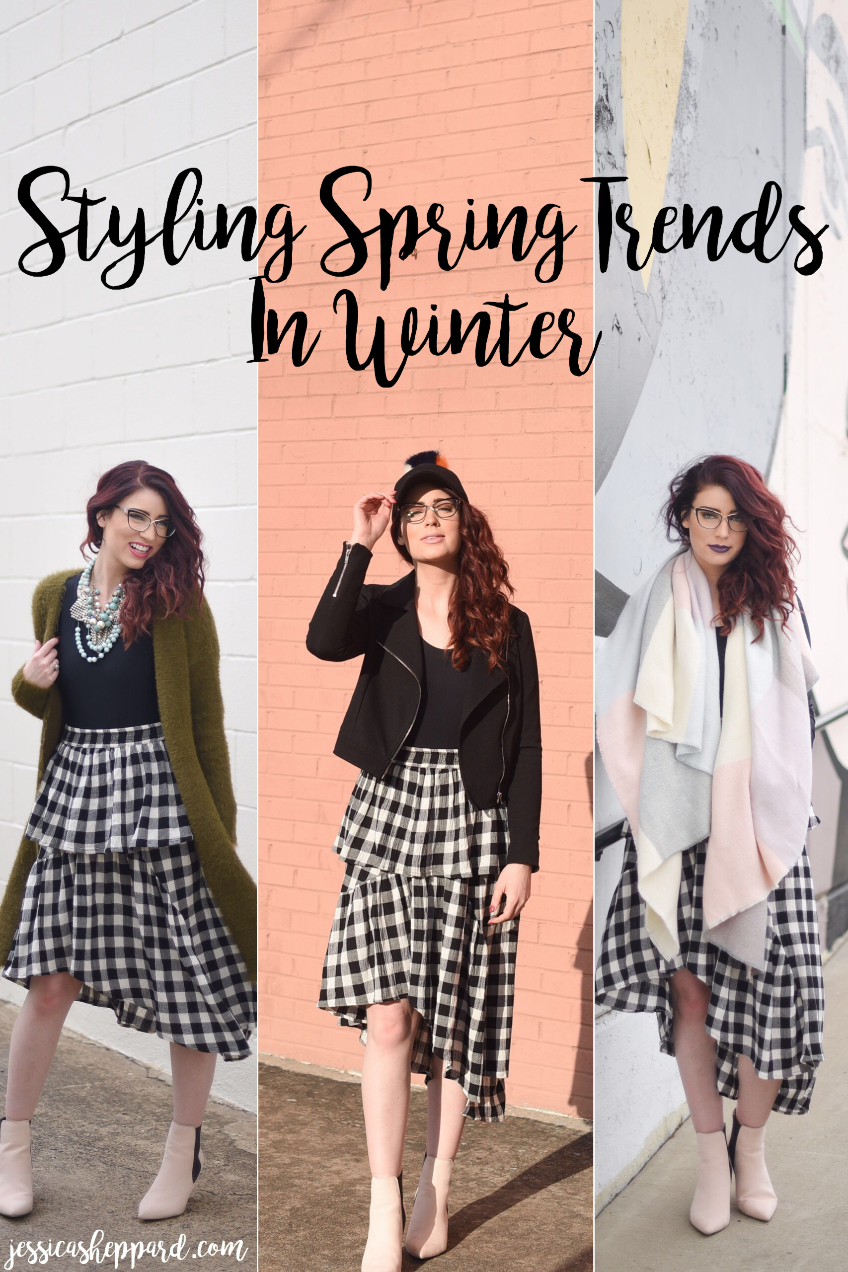 3 Ways to Wear Gingham   Styling Spring Trends in Winter