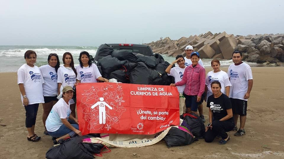 International Coastal Cleanup - Playa Tesoro - Mexico - September 2015