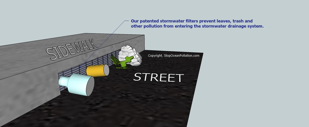 Stop Ocean Pollution stormwater filters are protected under U.S. Patent No. 8,017,006.