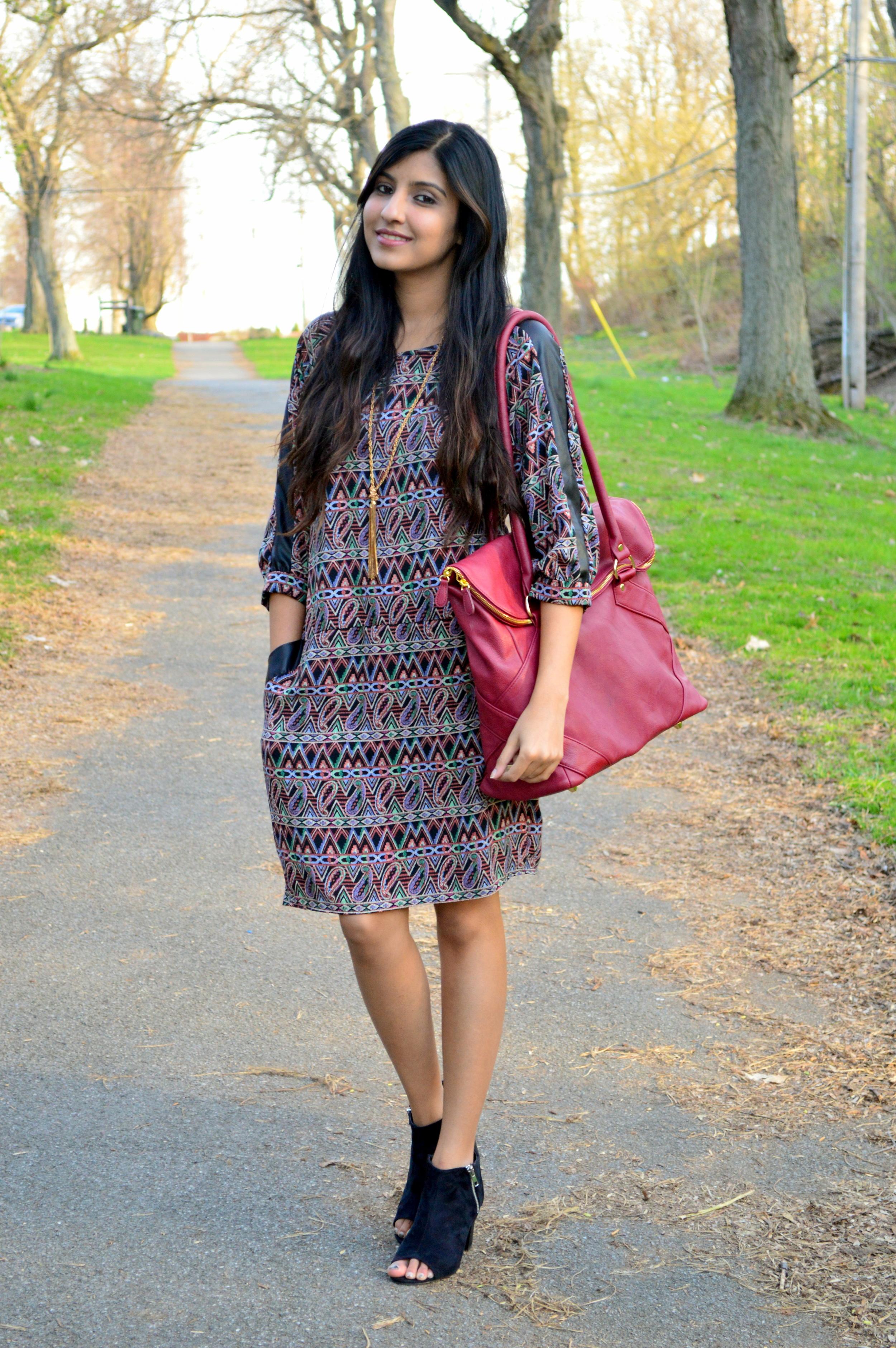 Paisley Shift Dress 1