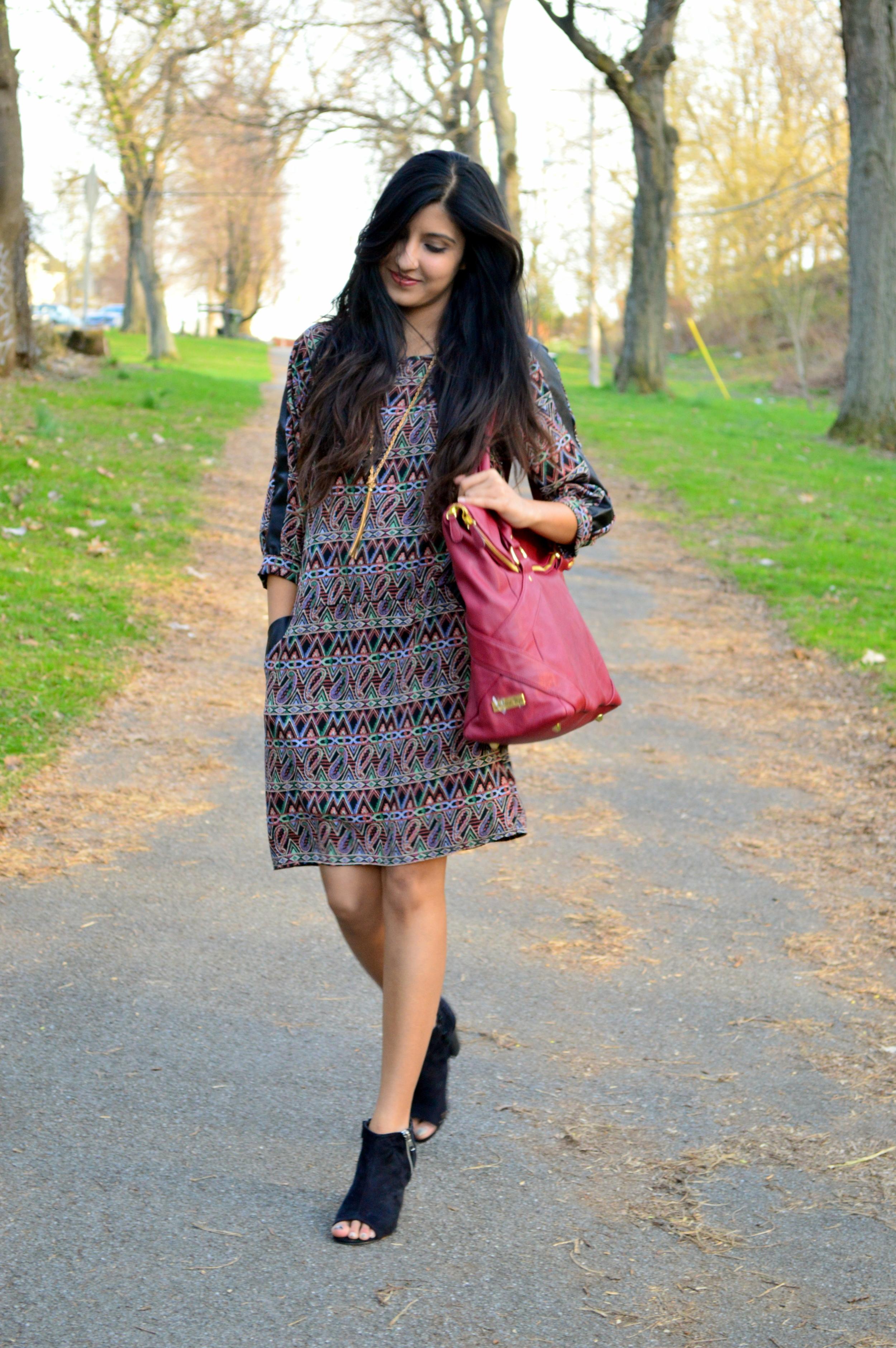 paisley shift dress 3