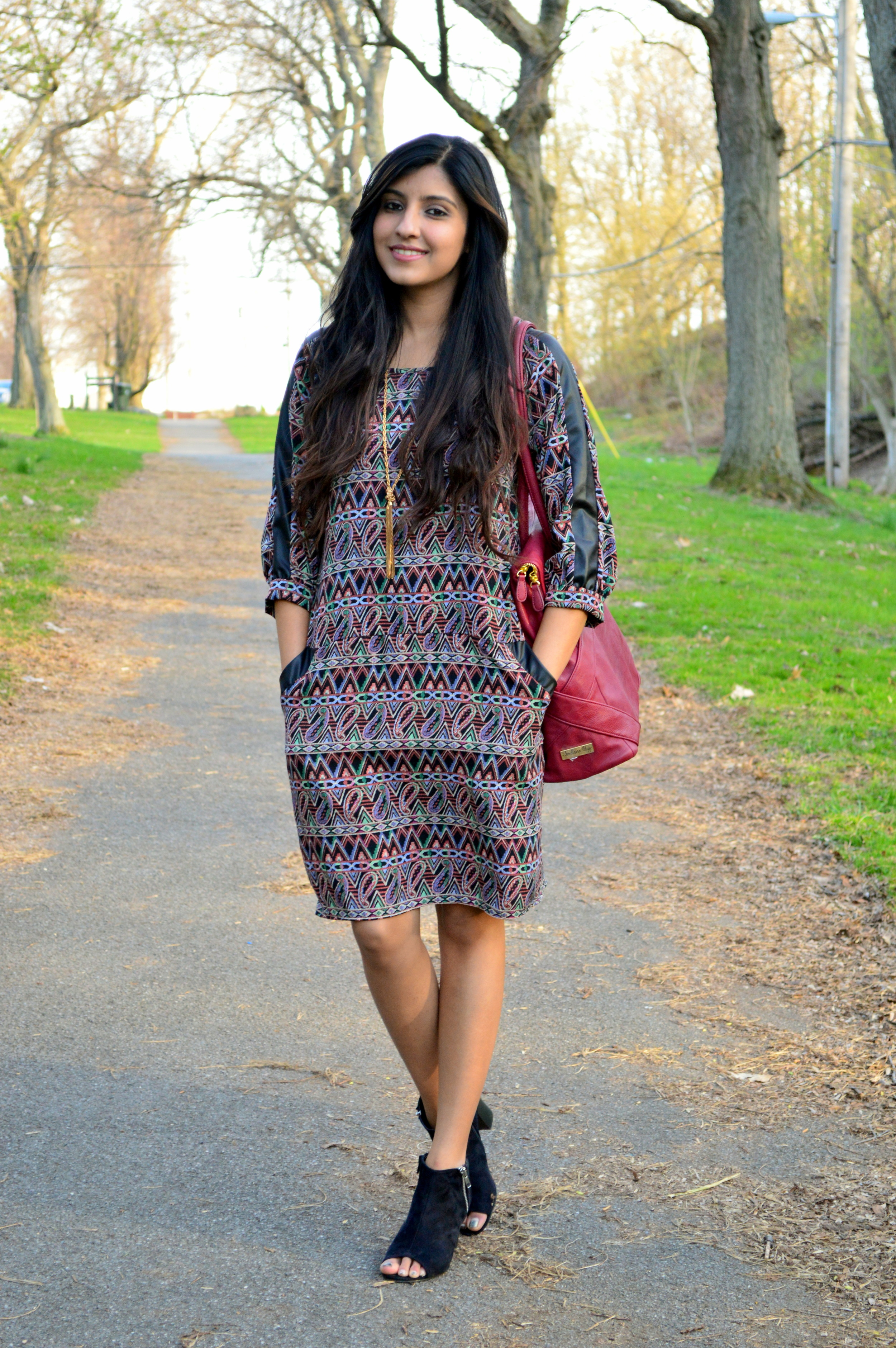 Paisley shift dress 7